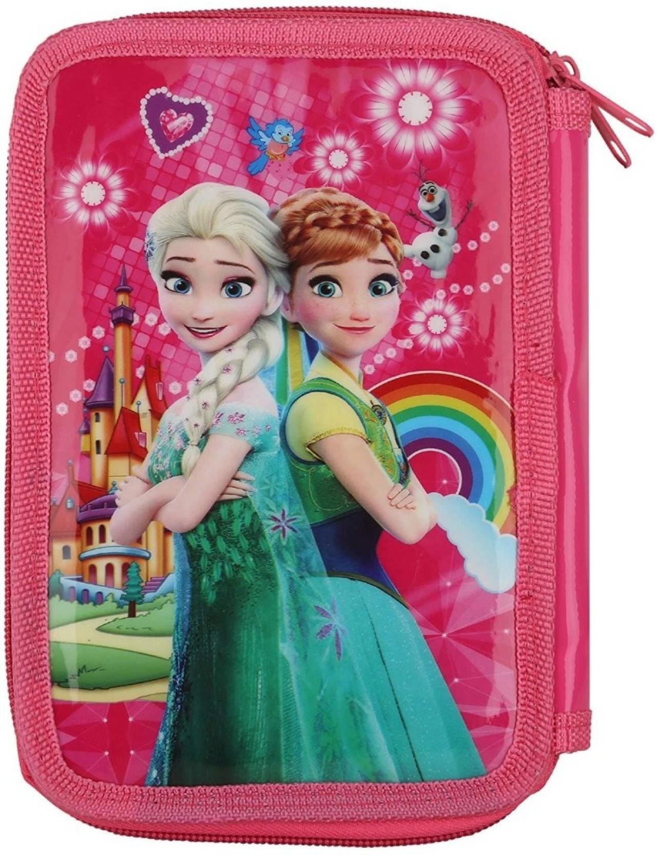 b03d76b4b1f14 Era Innovative Gifting pencil pouch Frozen Design Art Canvas Pencil Box  (Set of 1, Pink)