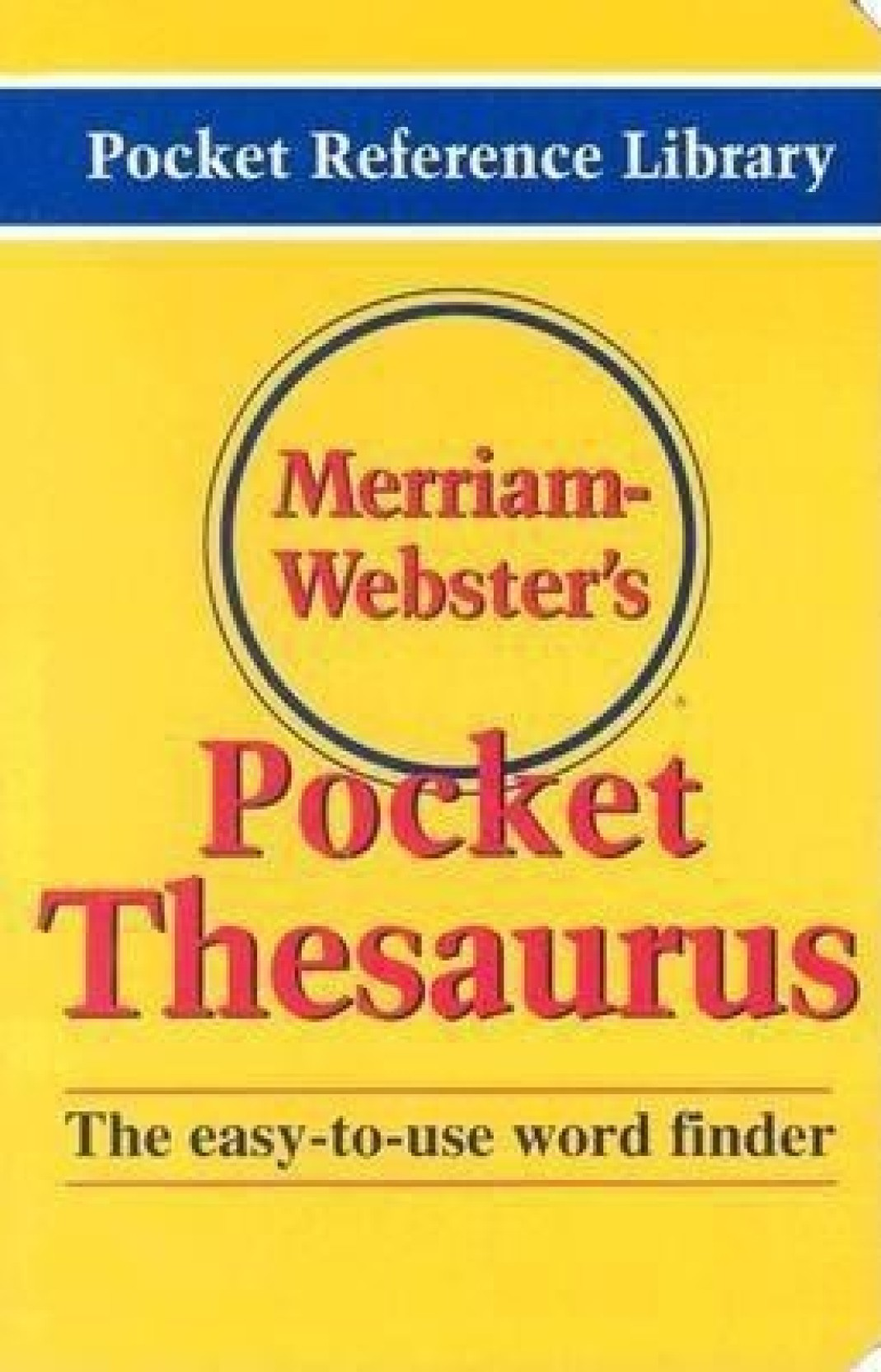 Merriam Webster's Pocket Thesaurus. ADD TO CART