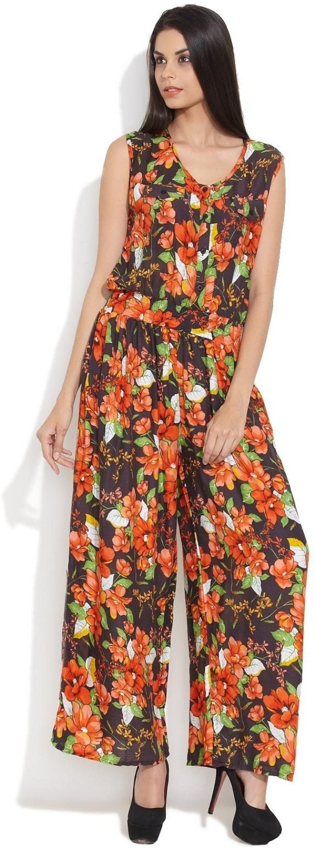 cd6c3c01db Hot Berries Floral Print Women s Jumpsuit - Buy Multicolor Hot ...
