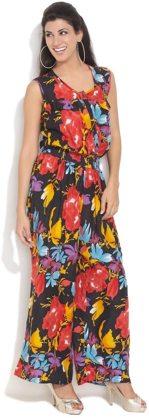 bb0411a9e3 Hot Berries Floral Print Women s Jumpsuit - Buy Multi Colour Hot ...