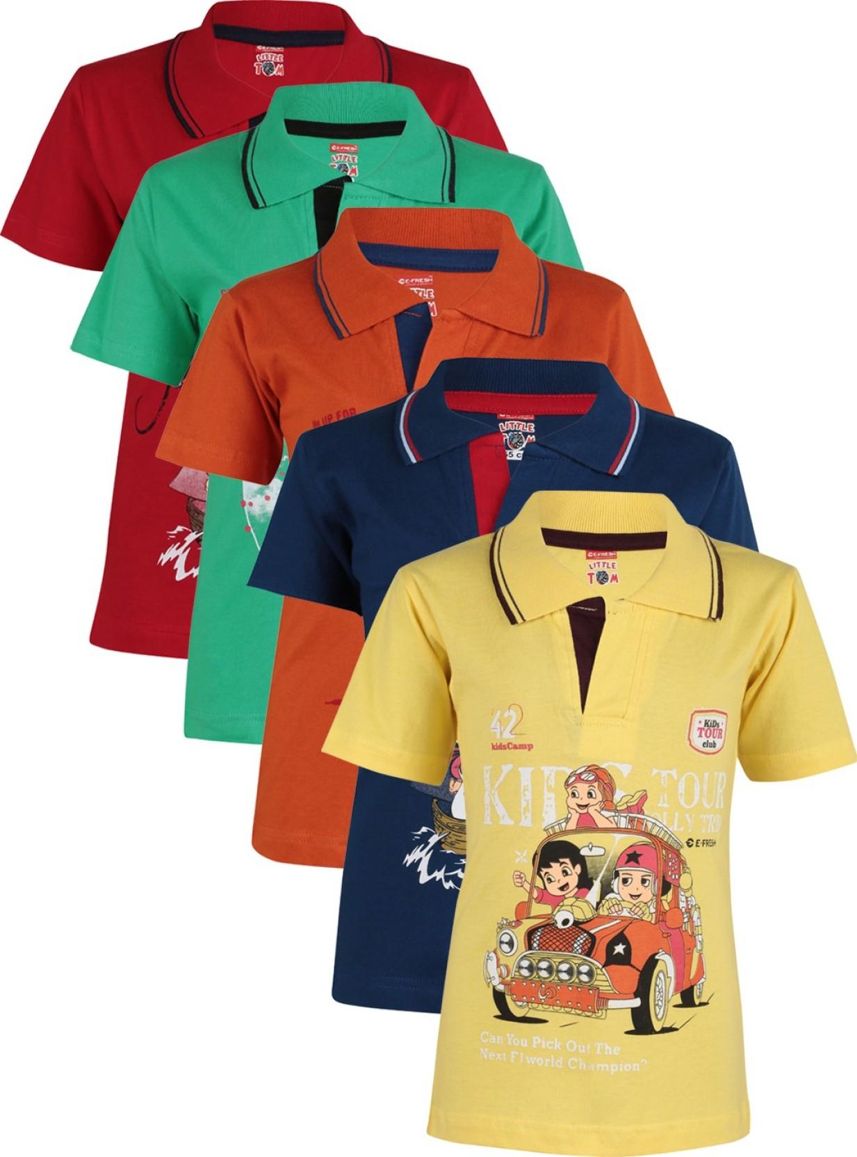 affd10113 e-Fresh Boys Printed Cotton T Shirt Price in India - Buy e-Fresh ...
