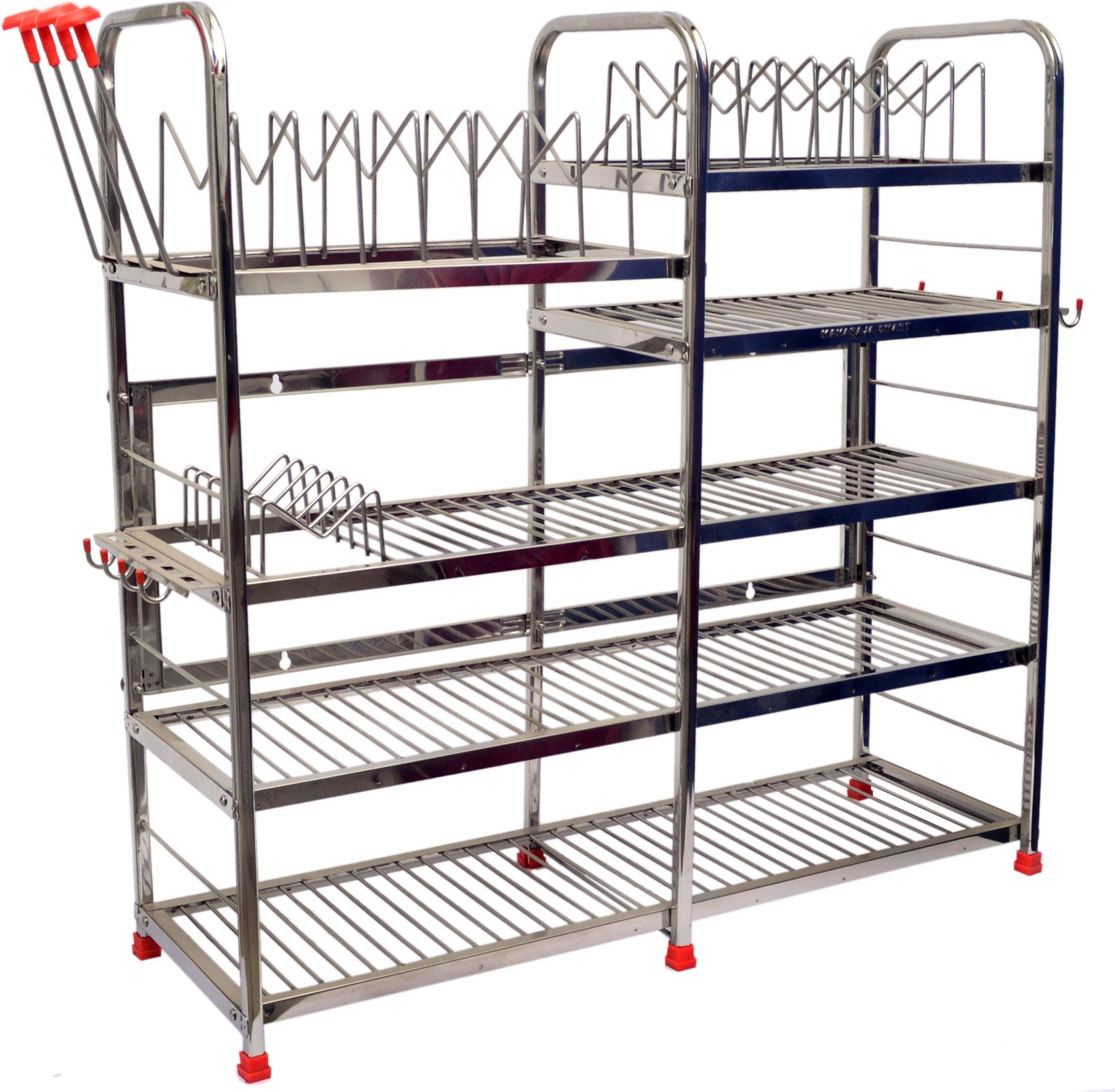 Kitchen Shelves And Racks Online: Maharaja Stainless Steel Kitchen Rack Price In India