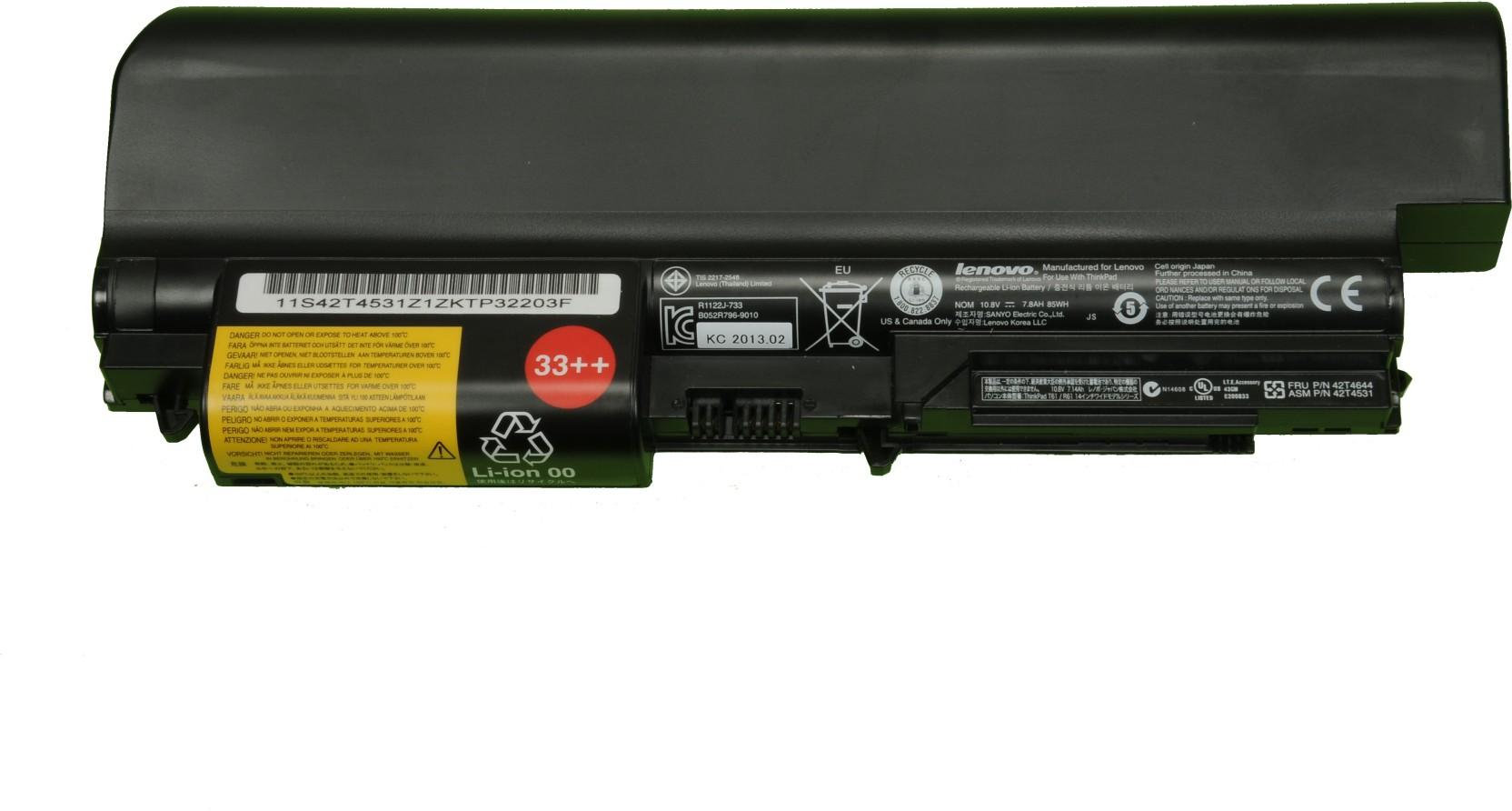 Lenovo 42T4644/ 42T4531 9 Cell Laptop Battery - Lenovo : Flipkart com