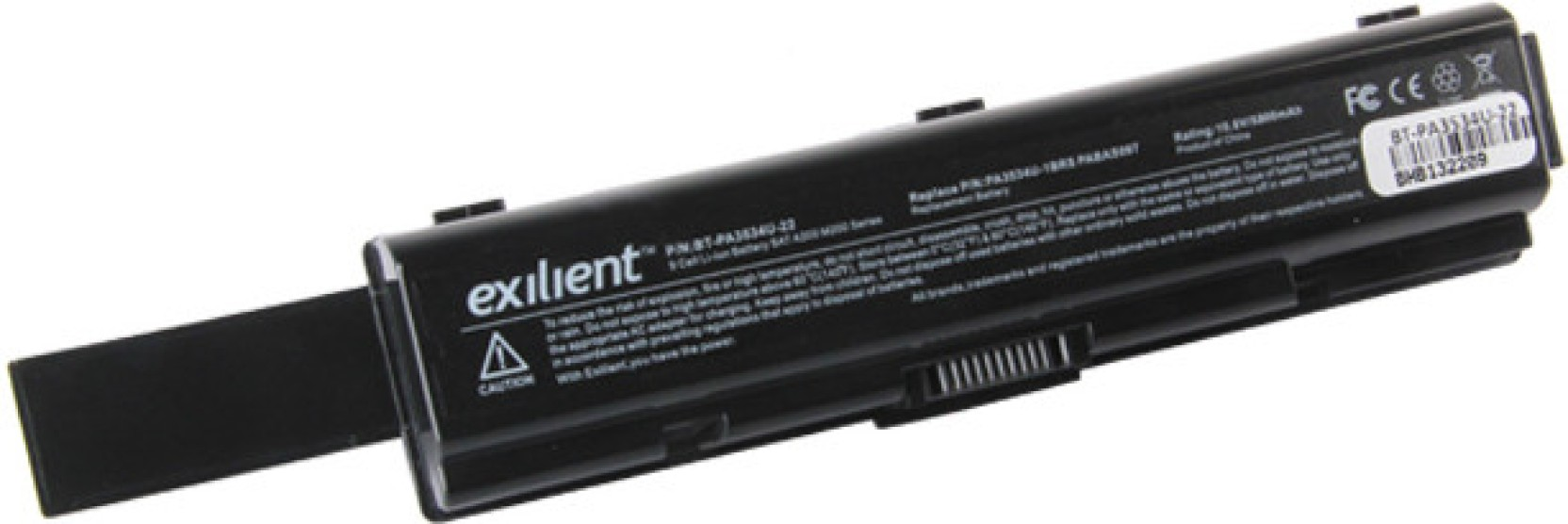Exilient Toshiba A200 A300 A500 9 Cell Laptop Battery Baterai M200 A205 L200 Pa3534 Pa3535 Black
