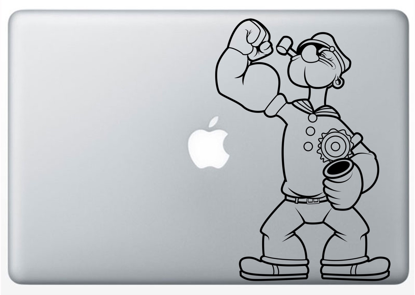 Popeye stickers vinyl laptop decal 13 share