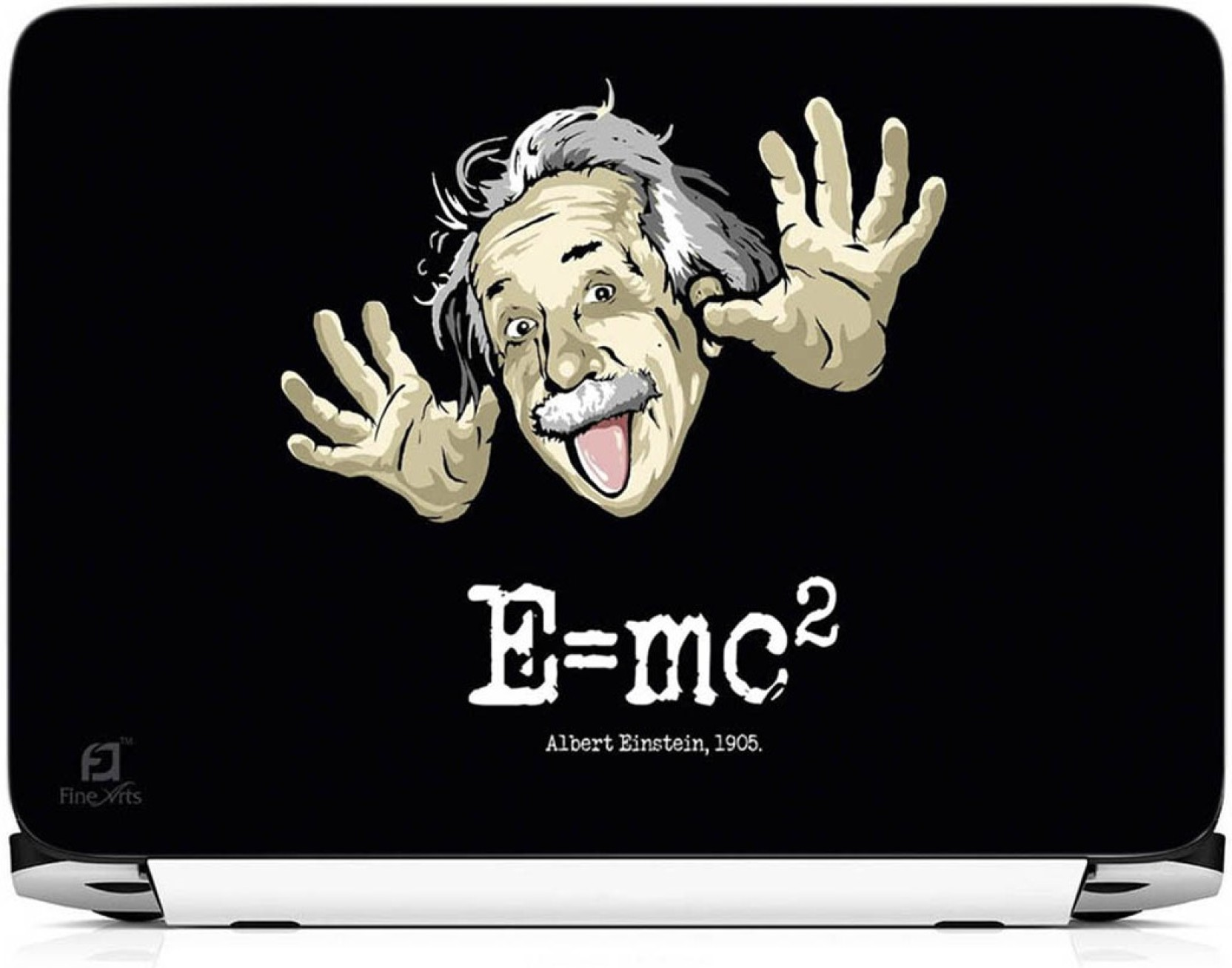 Finearts E Mc2 Albert Einstein Vinyl Laptop Decal 15 6