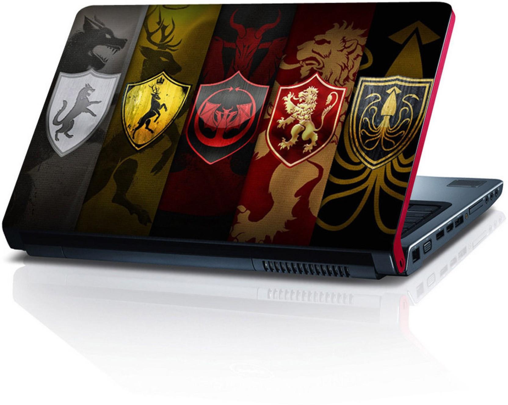 Shopkeeda Game Of Thrones All House Vinyl Laptop Decal 15
