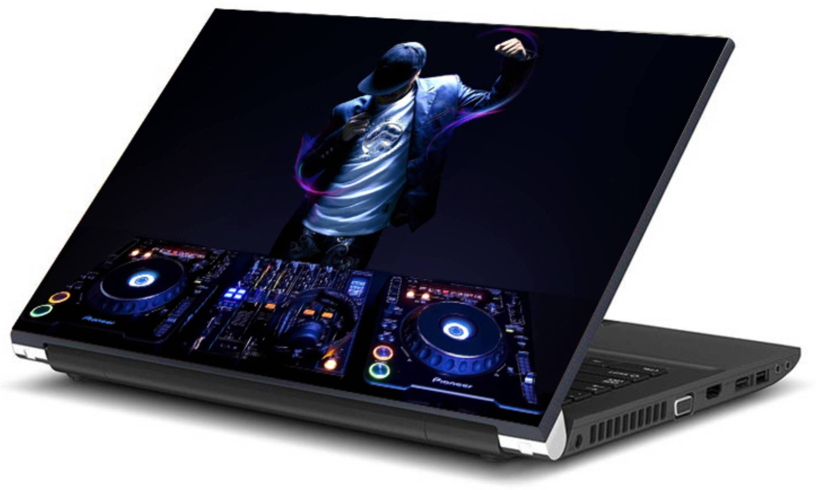 Print shapes dj music vinyl laptop decal 15 6 add to cart