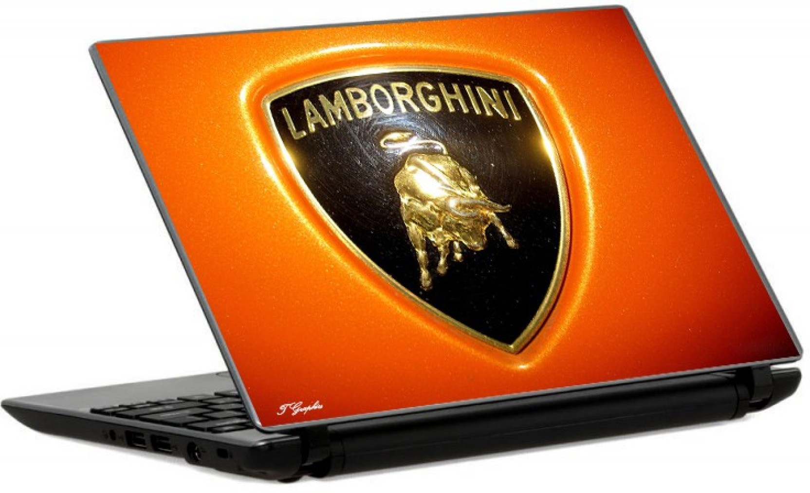 Tgraphics Lamborghini Logo Orange Bg Paper Laptop Decal 15 6 Price