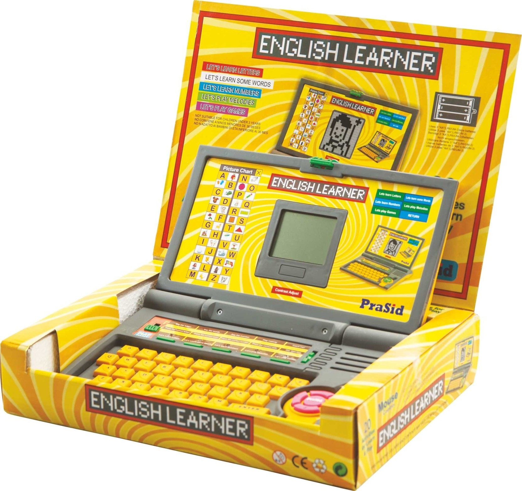 Prasid English Learner Laptop for Kids 20 Activities Price in