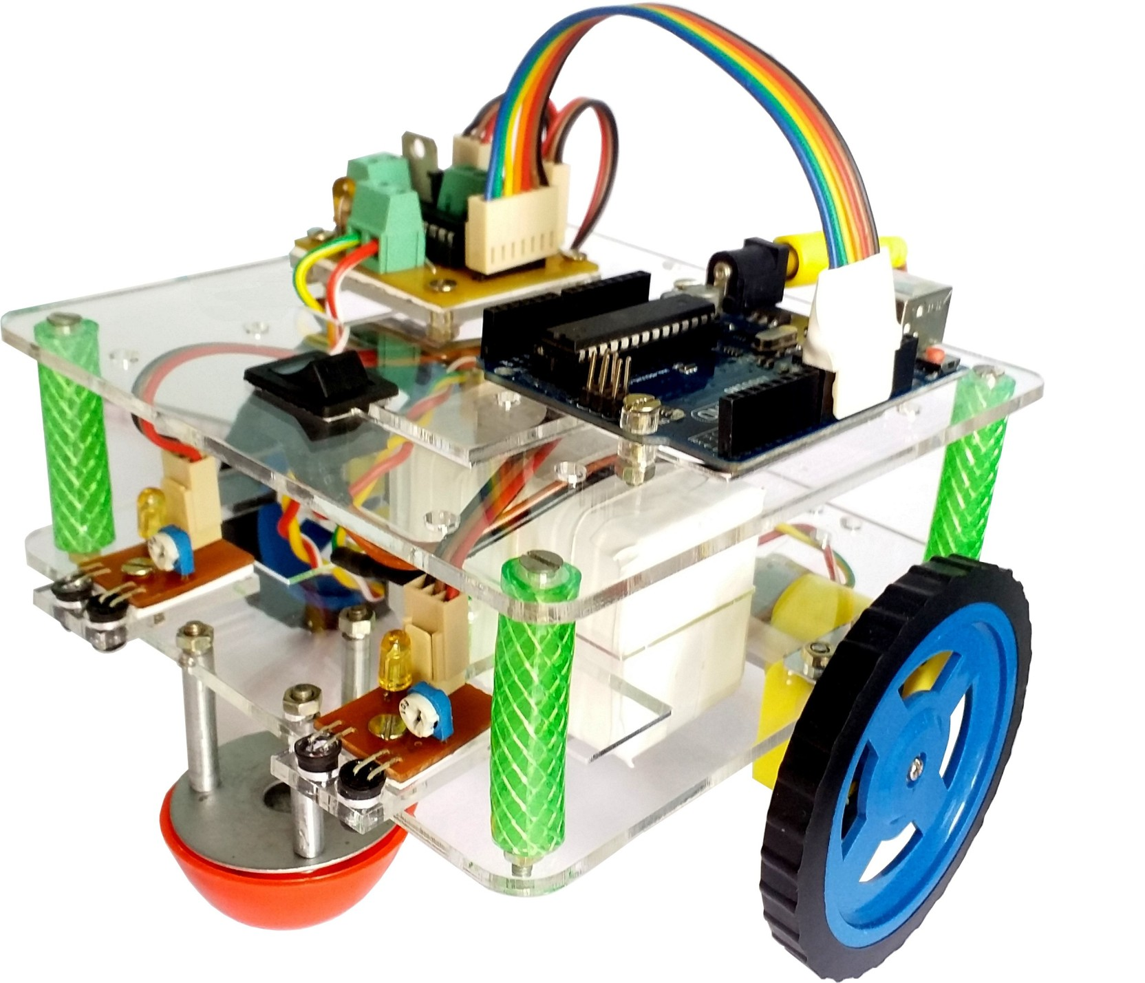 Global Traders Multipurpose Line Follower Robot Including Arduino Driver On Add To Cart