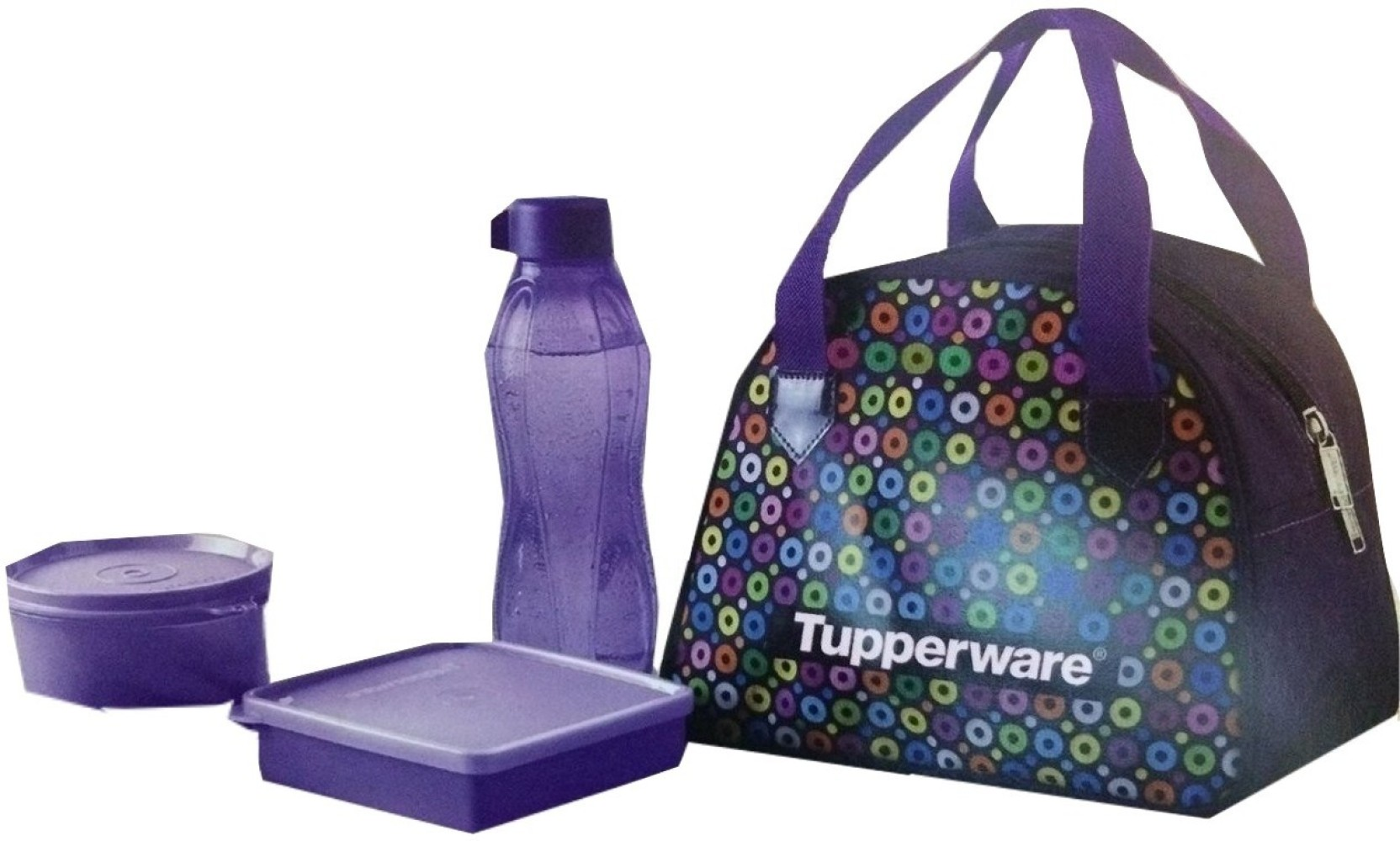Tupperware Fun Loop 3 Containers Lunch Box Bring Your Own Set Share