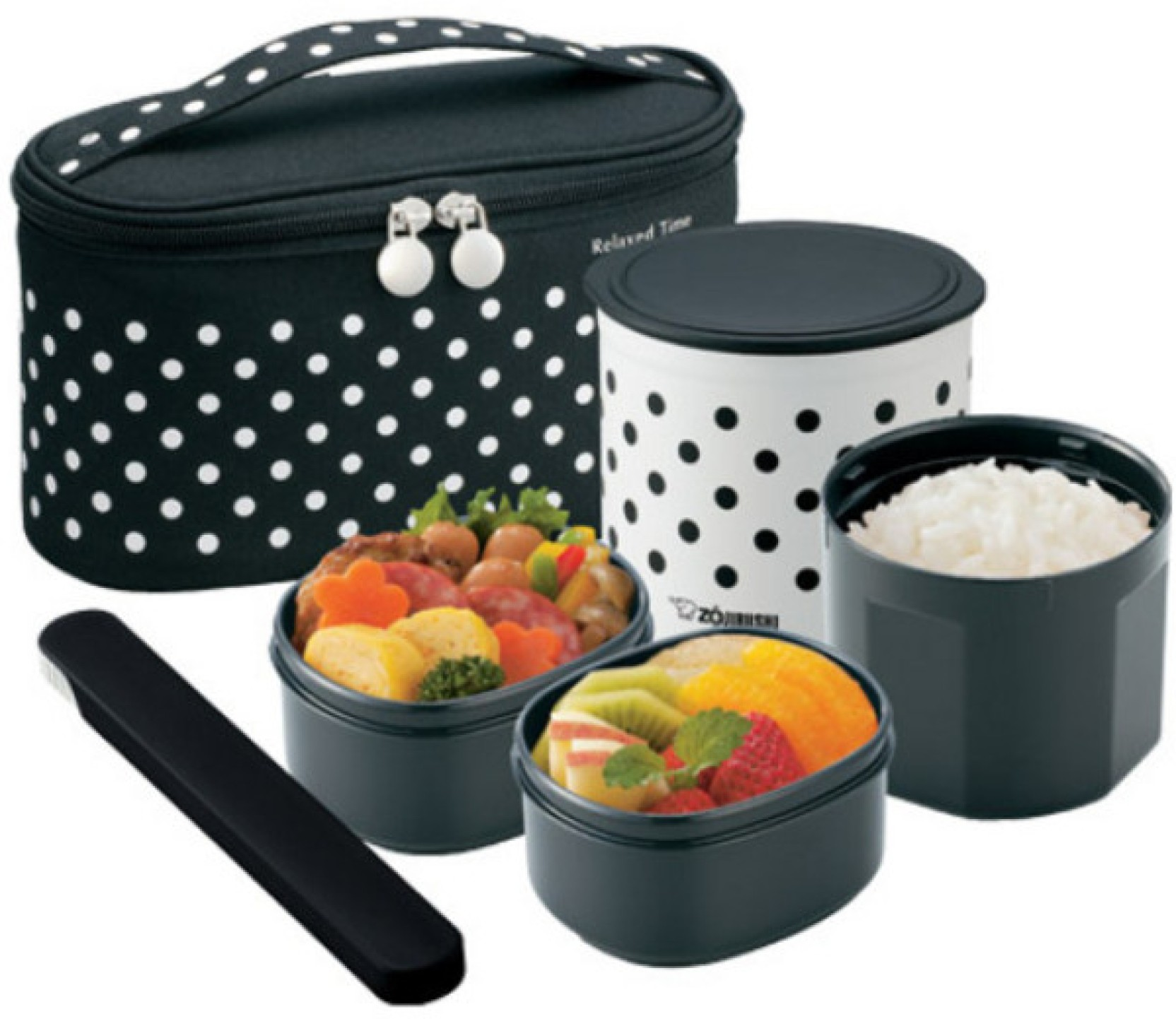 zojirushi szgc 02 3 containers lunch box lunch boxes. Black Bedroom Furniture Sets. Home Design Ideas