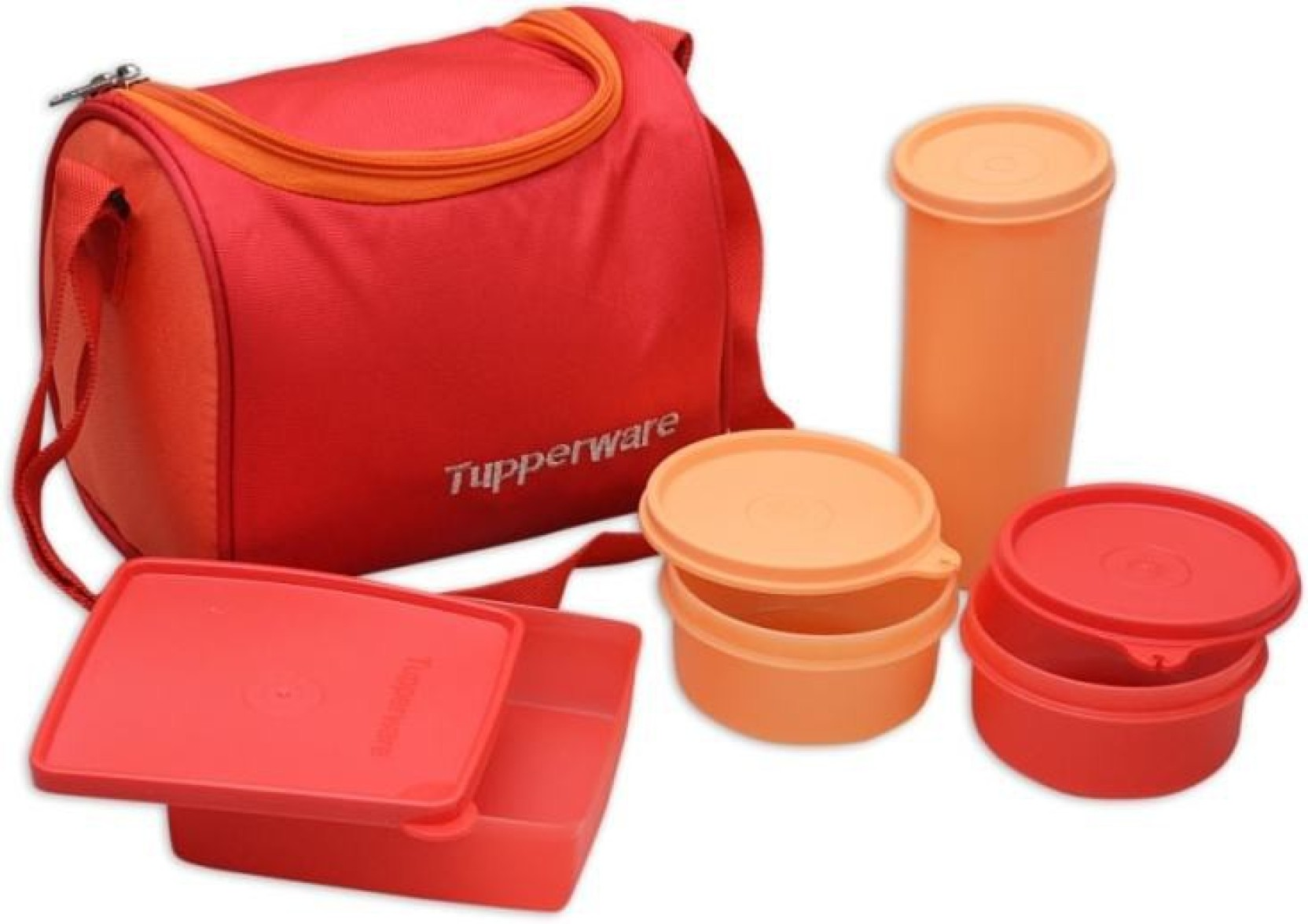 tupperware tp 187 4 containers lunch box. Black Bedroom Furniture Sets. Home Design Ideas
