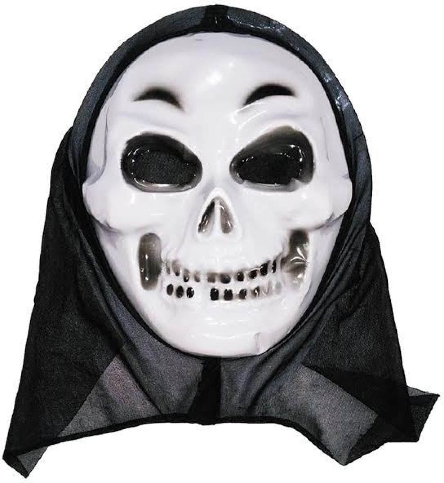 oxytrends halloween scary mask pack of 5 pieces - white party mask