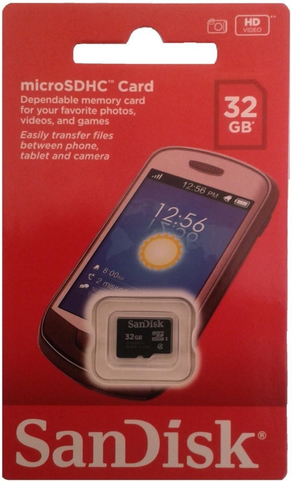 Sandisk Micro 32 Gb Microsd Card Class 4 24 Mb S Memory Log On Turbo Sd Hc 16gb 10 Compare
