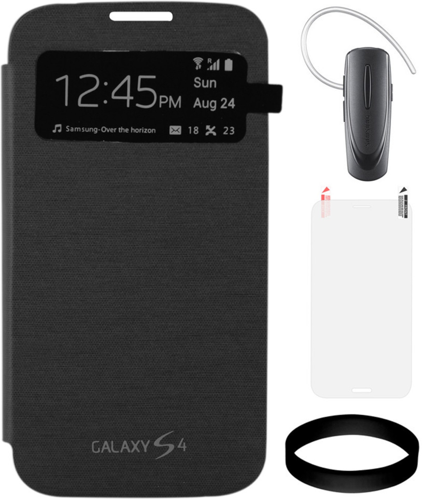 Dmg S View Flip Cover For Samsung Galaxy S4 I9500 Black With New All Hm1100 Share
