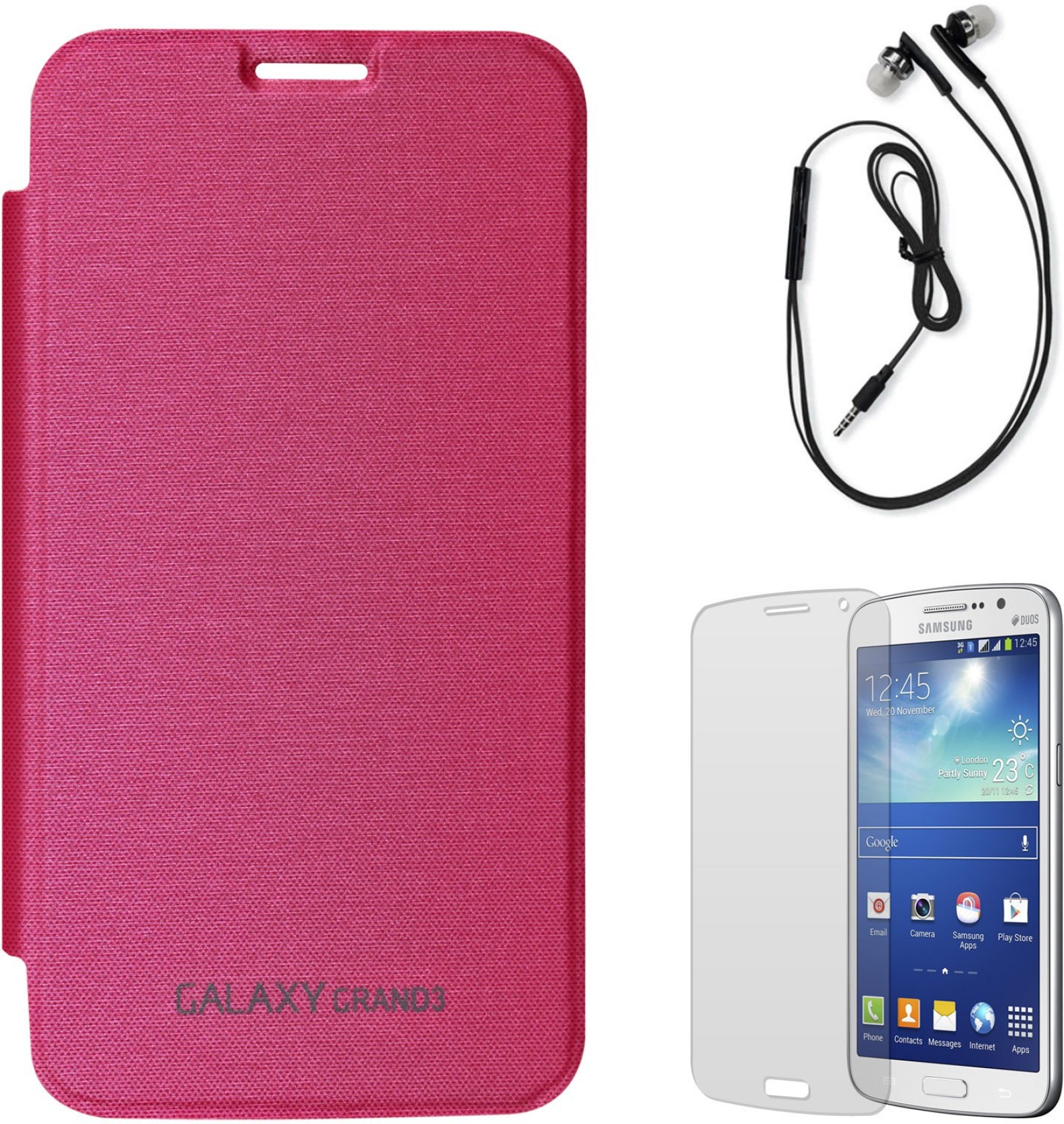 DMG Smooth PU Leather Back Replace Flip Cover For Samsung