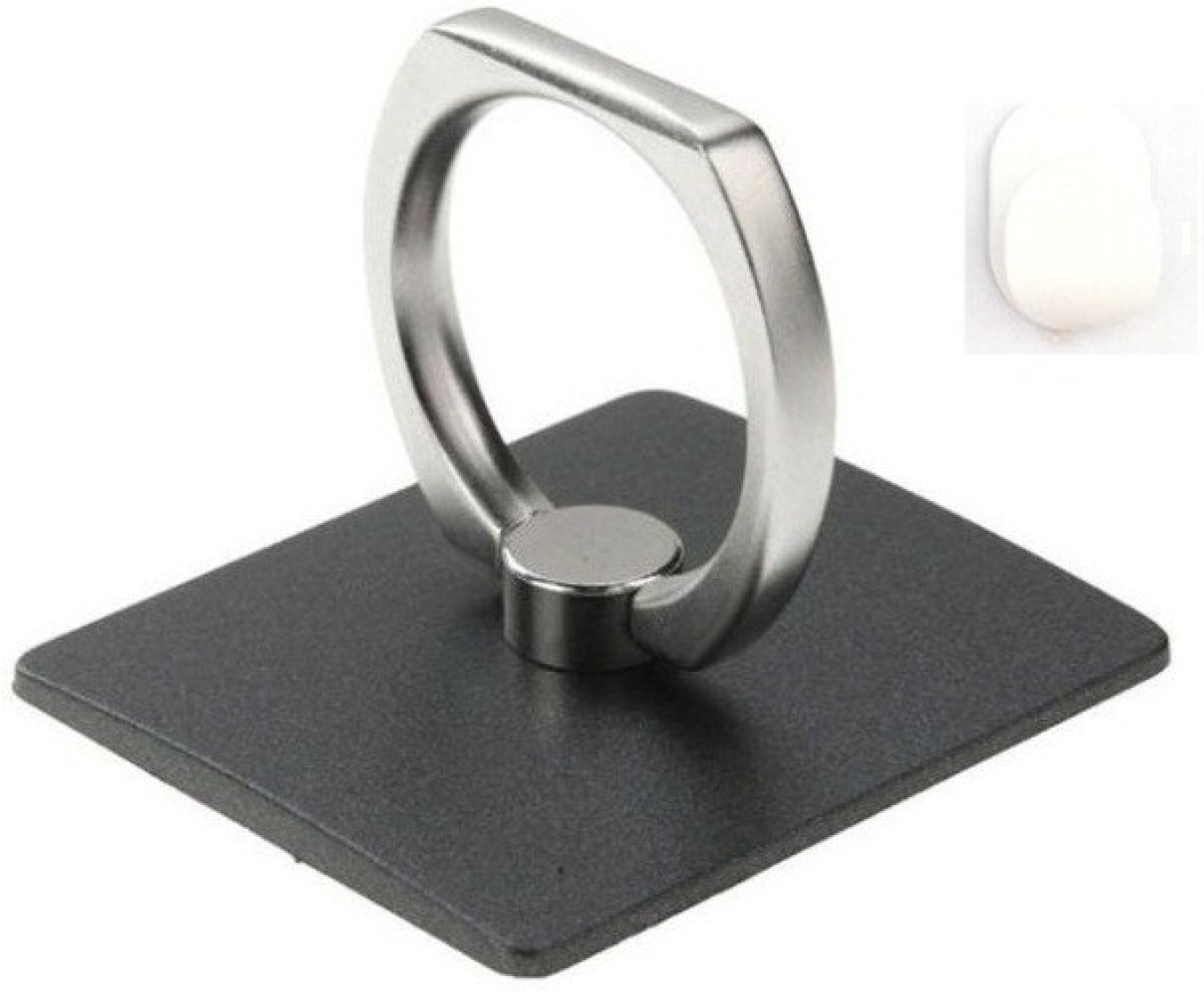 Fku Finger Grip Ring Stand With Hook Black Mobile Holder Iring Home