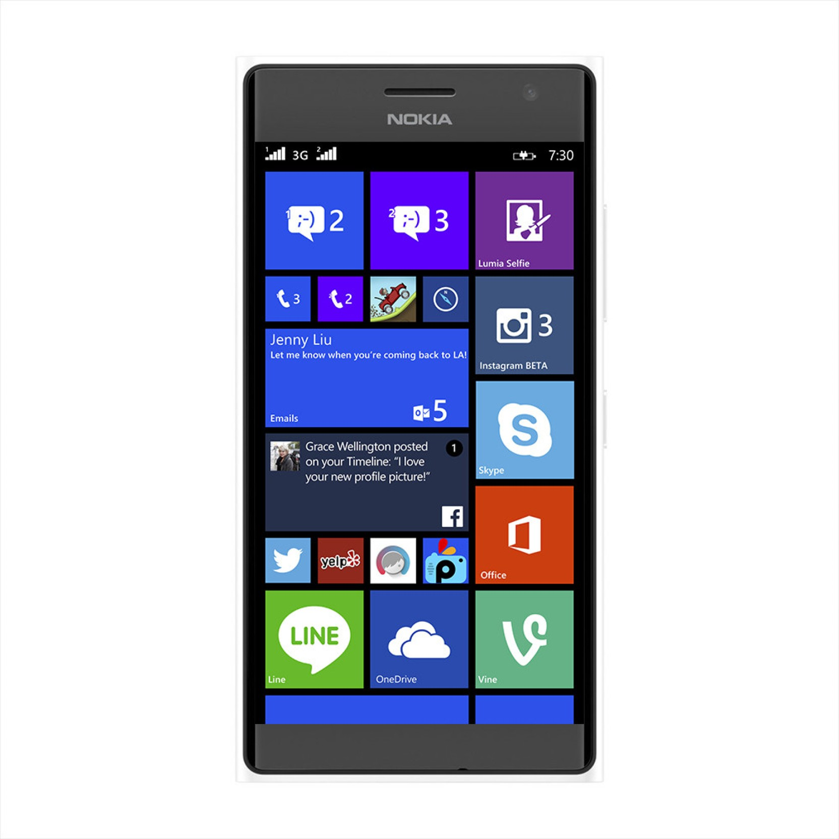 Nokia Lumia 730 (White, 8 GB) Online at Best Price with ...