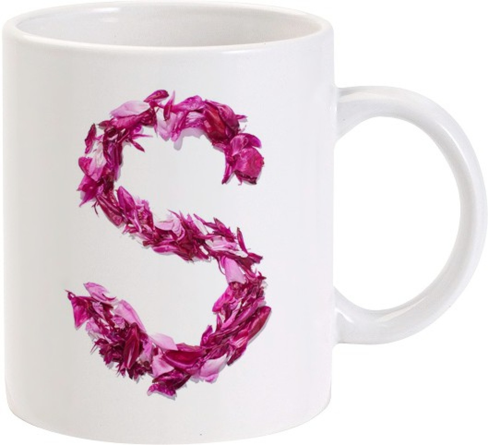 Lolprint S Flower Alphabet Letter Name Ceramic Mug Price In India
