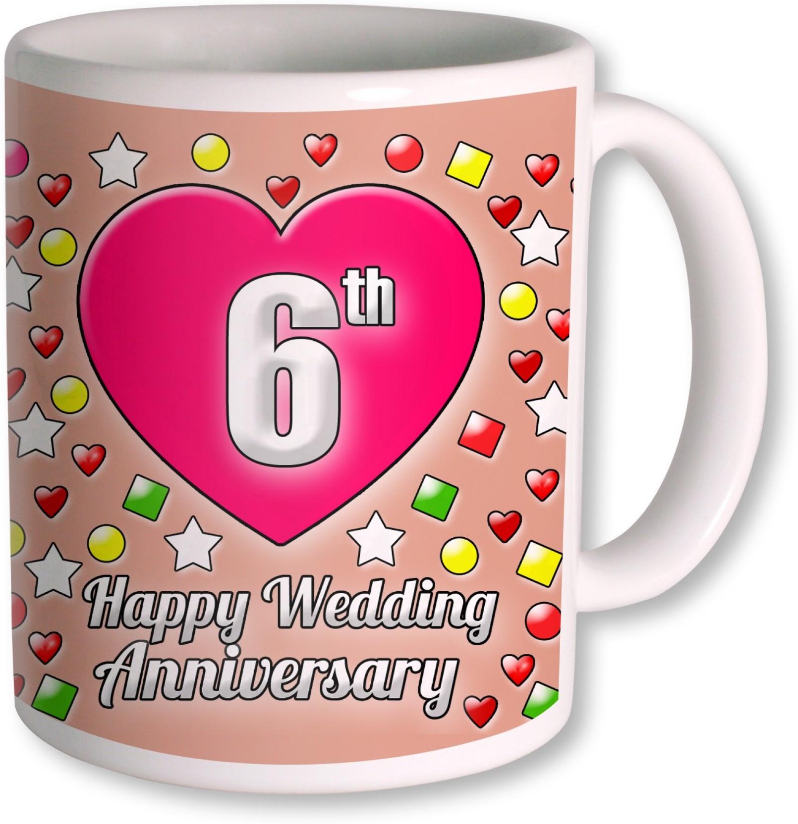 PhotogiftsIndia Gifts For 6th Wedding Anniversary Coffee Ceramic Mug ...