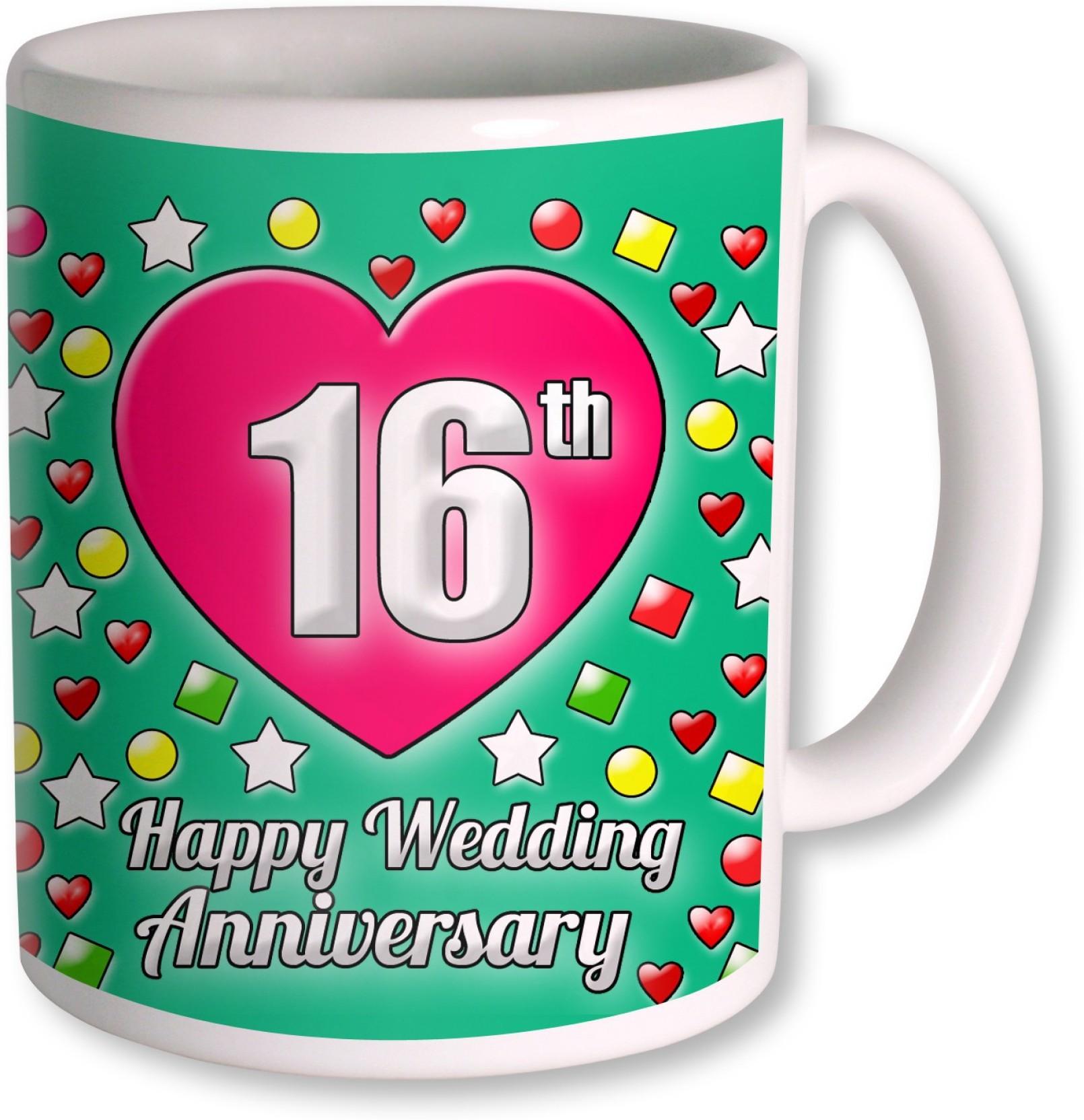 16th Wedding Anniversary.Photogiftsindia Gifts For 16th Wedding Anniversary Coffee Ceramic