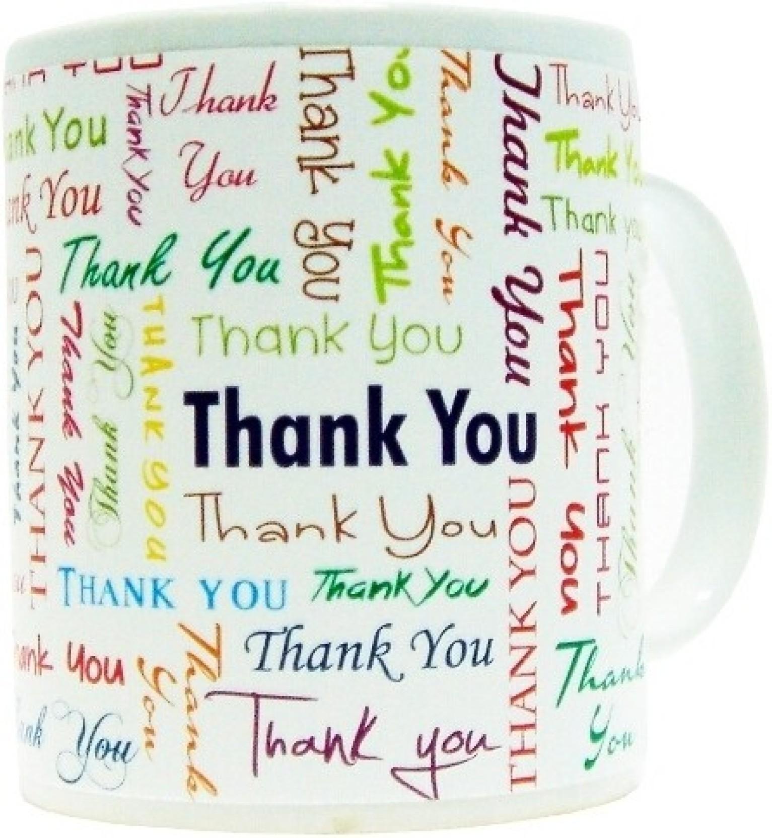 Everyday Gifts Emotional Gift Thank You Ceramic Mug. Share