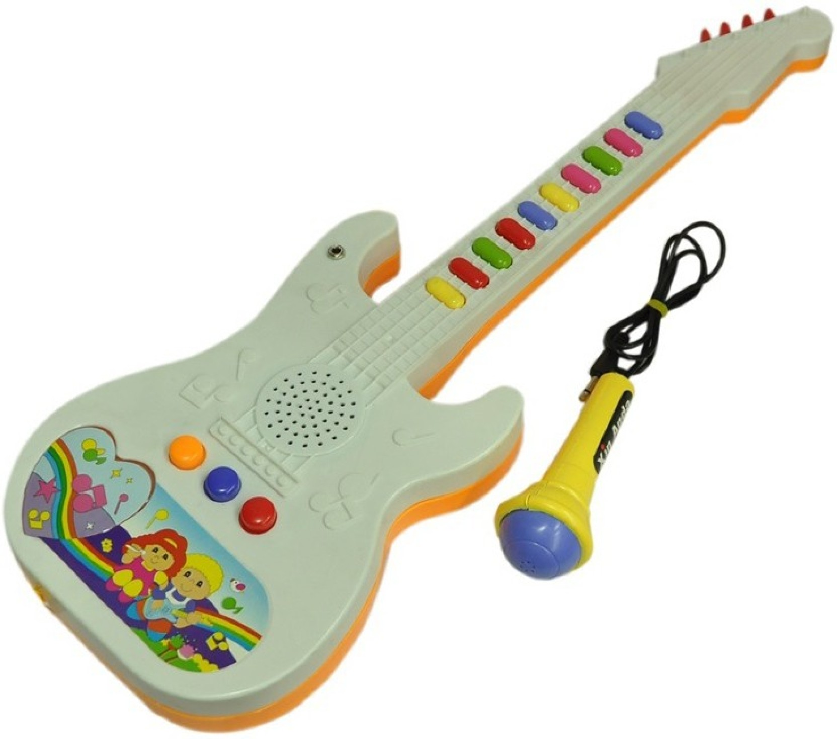 Shop & Shoppee Musical Guitar with Button and Mike Musical