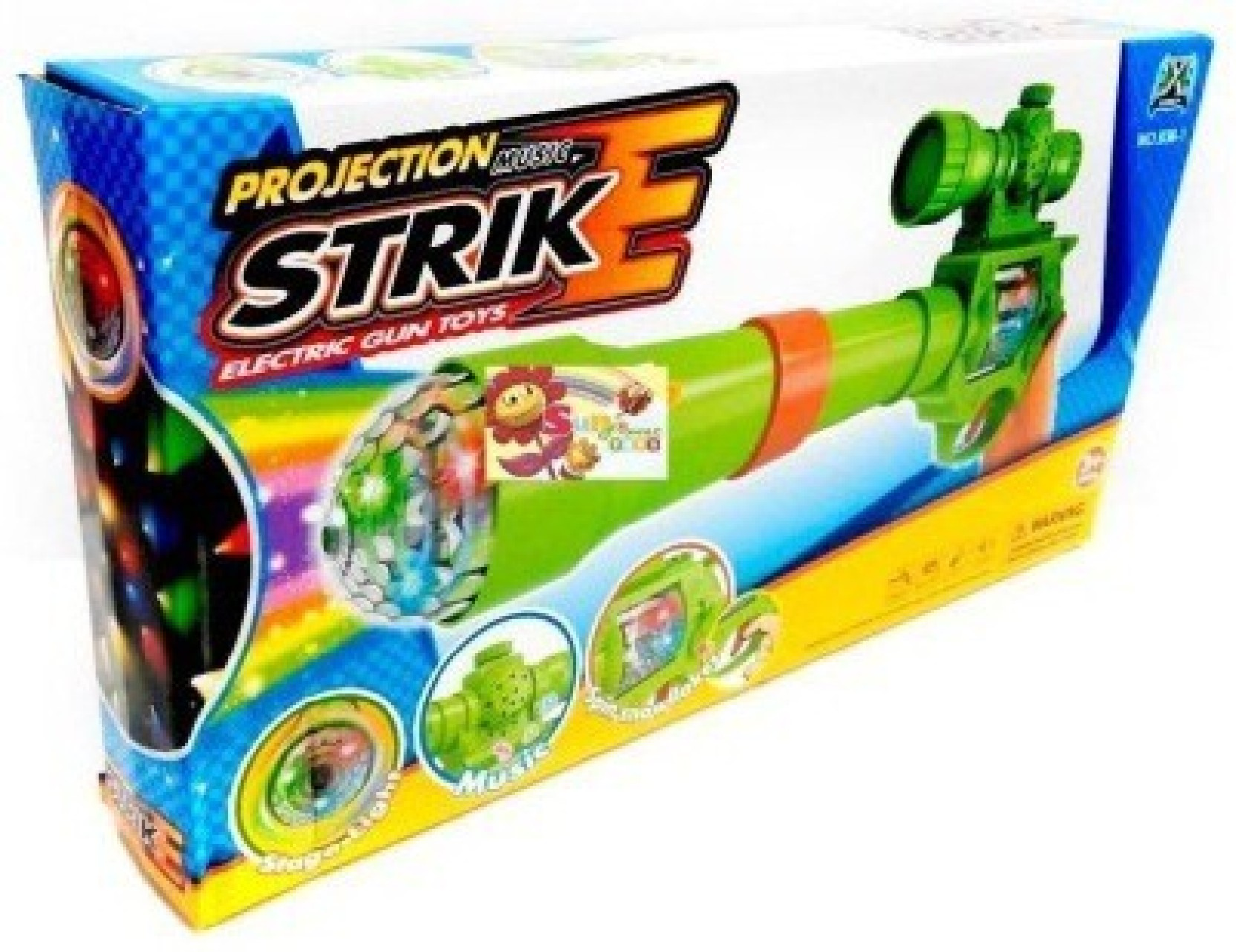 Shop & Shoppee Projection & Musical Strike Electric Toy Gun For