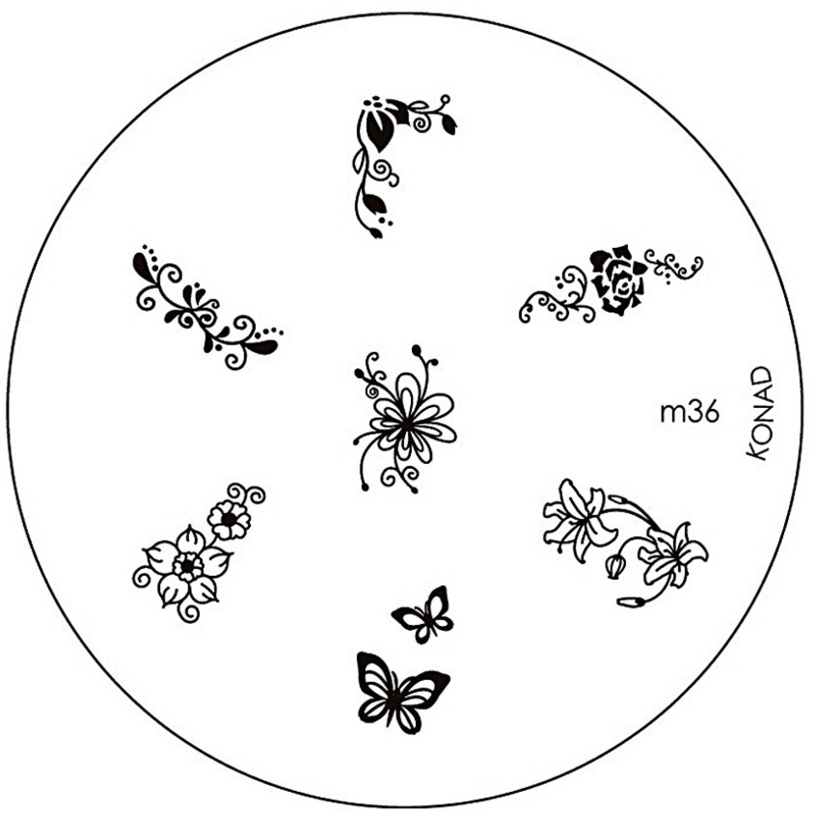 Konad Stamping Nail Art Image Plate M36 Price In India Buy Konad Stamping Nail Art Image