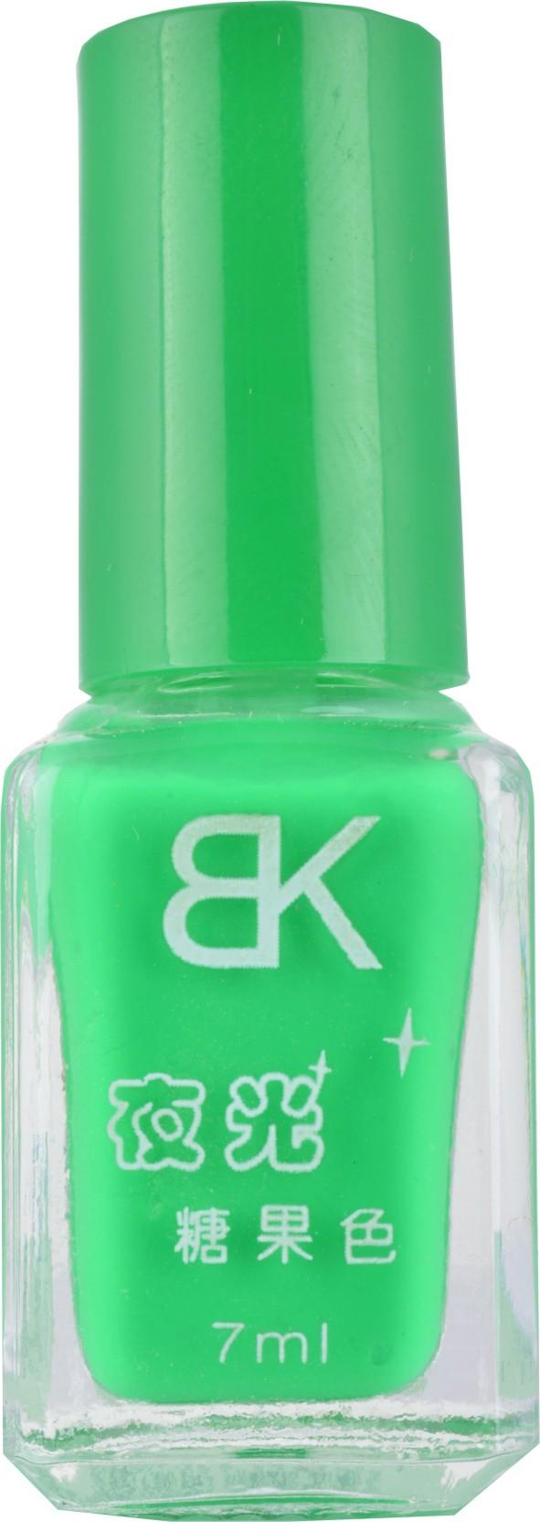 BK Glow In Dark Radium Emerald Green Colour Nail Polish Varnish ...