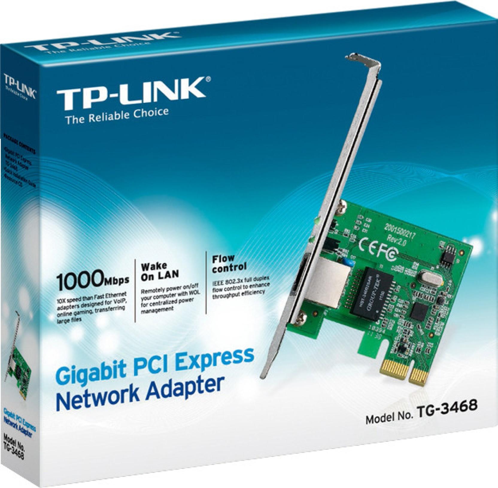 TP-LINK TG-3468 Gigabit PCIe Network Adapter Nic