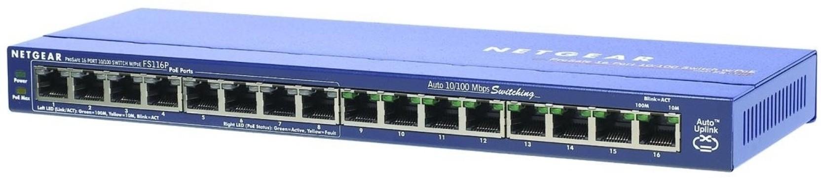 Netgear 16 Port POE Switch Network Switch - Netgear : Flipkart com