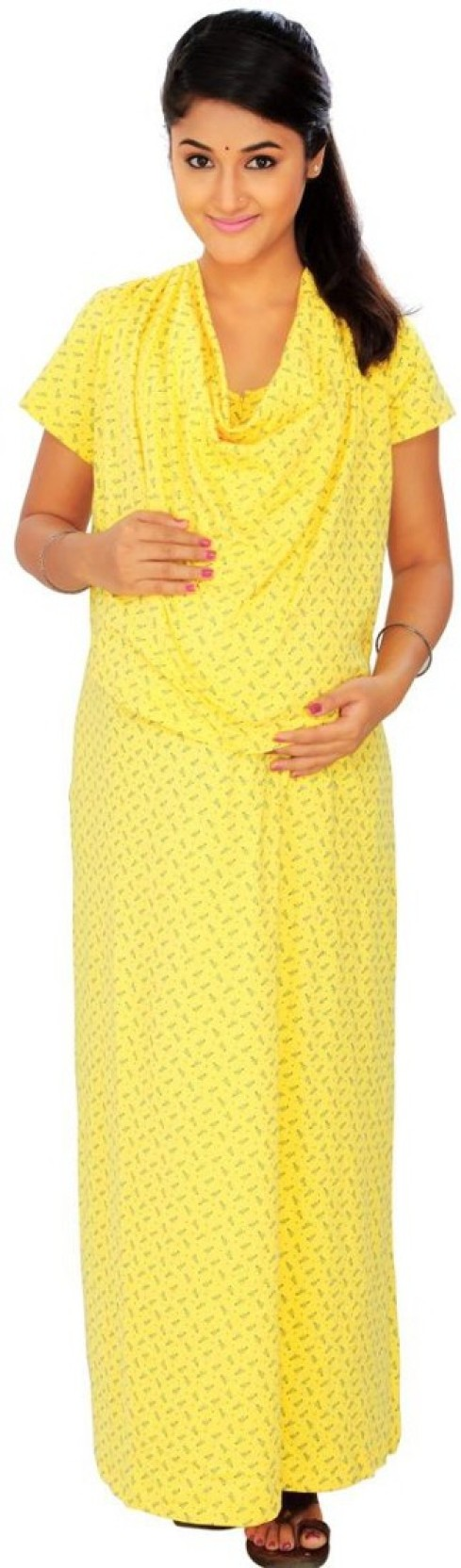 d4229ea72259b Kriti Comfort Women's Nighty - Buy Yellow Kriti Comfort Women's ...