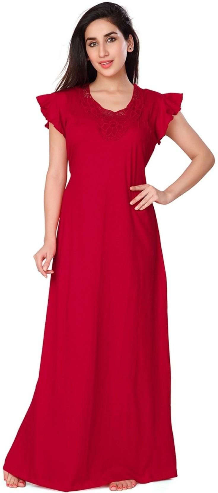 bf61a7a9c7 Honeydew Women Nighty - Buy Red Honeydew Women Nighty Online at Best ...