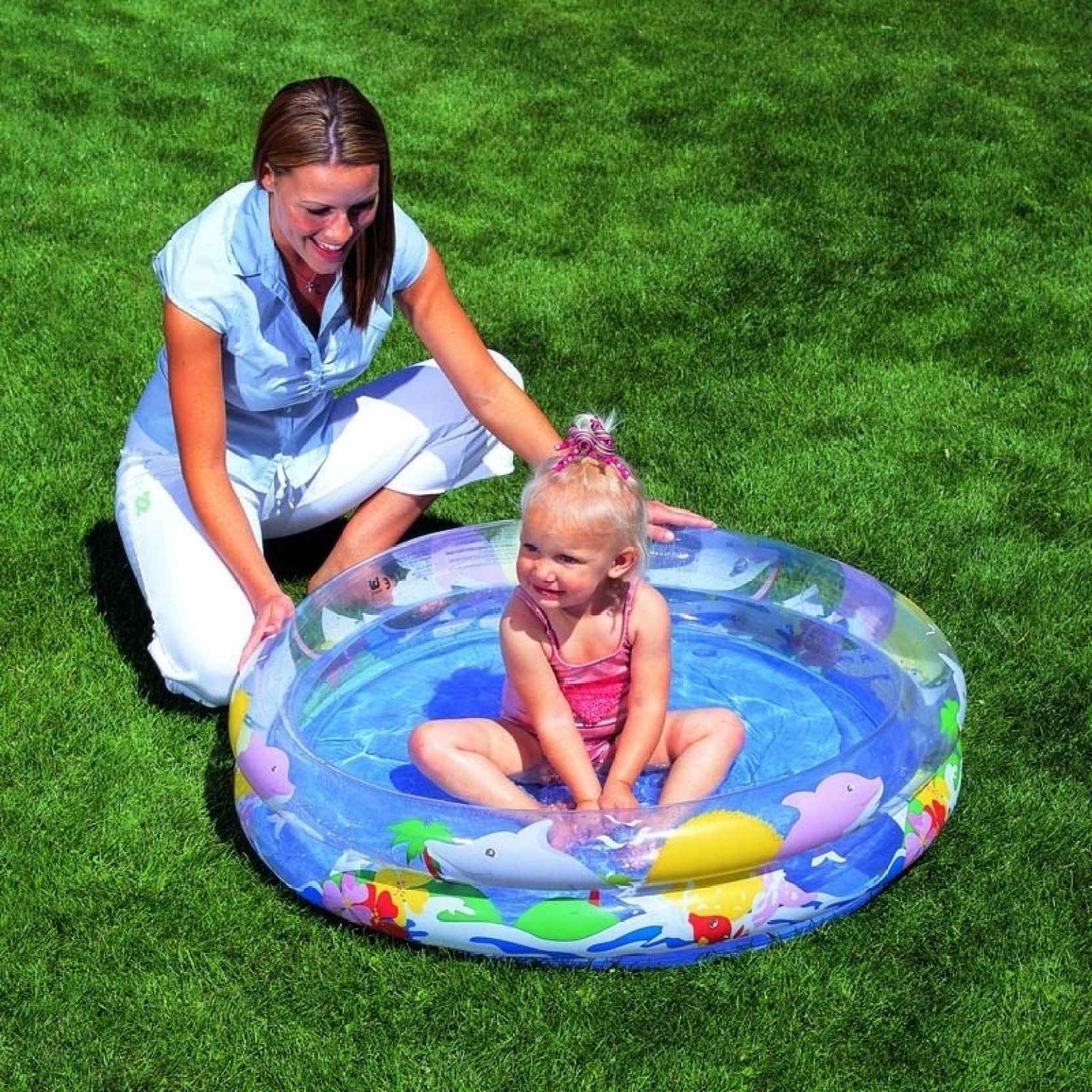 Best way transparent sea life pool transparent sea life for Best children s paddling pool