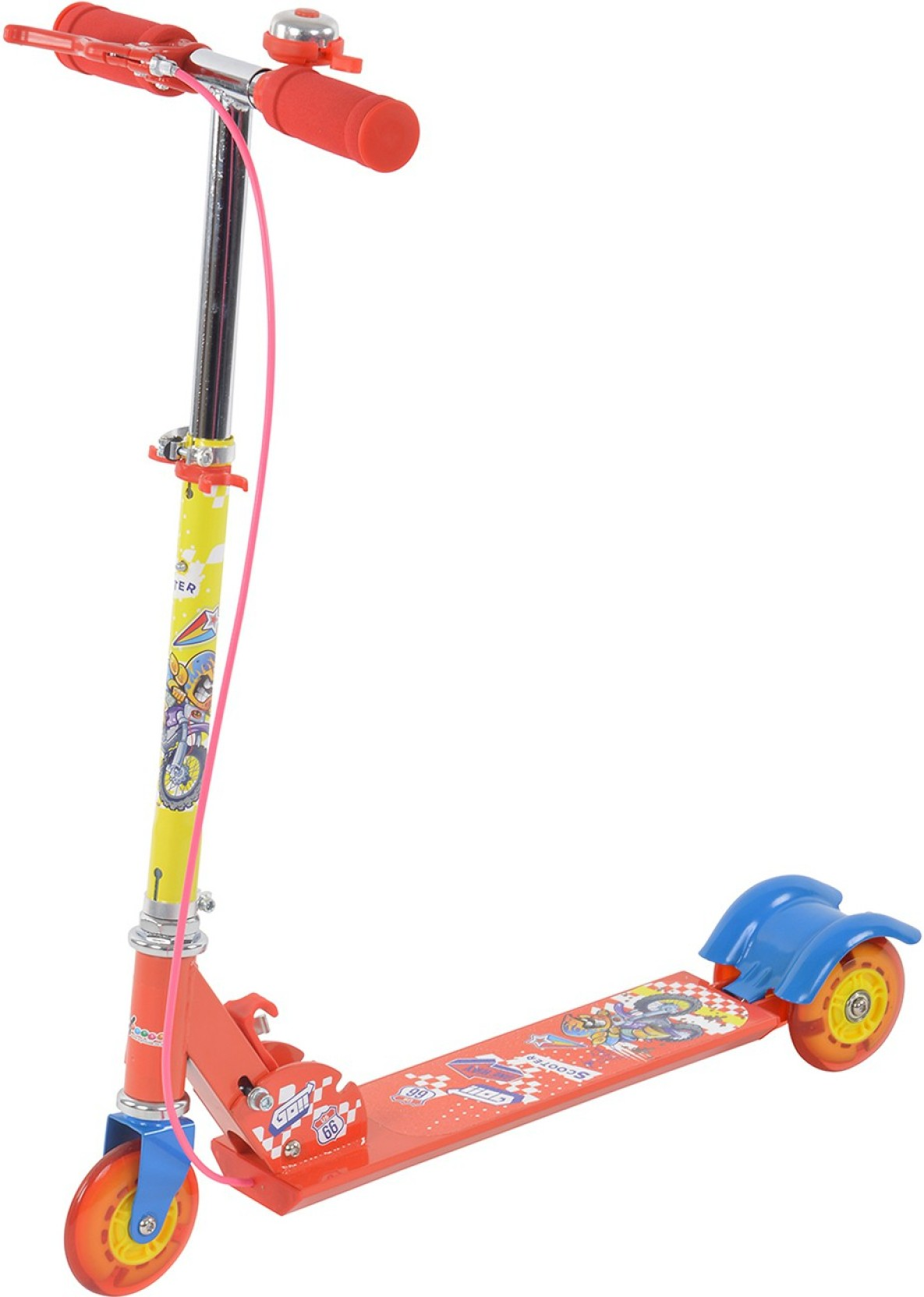 Toy House Three Wheeled Height Adjustable Scooter With Lights Hand Some Boy Wire Diagram Add To Cart