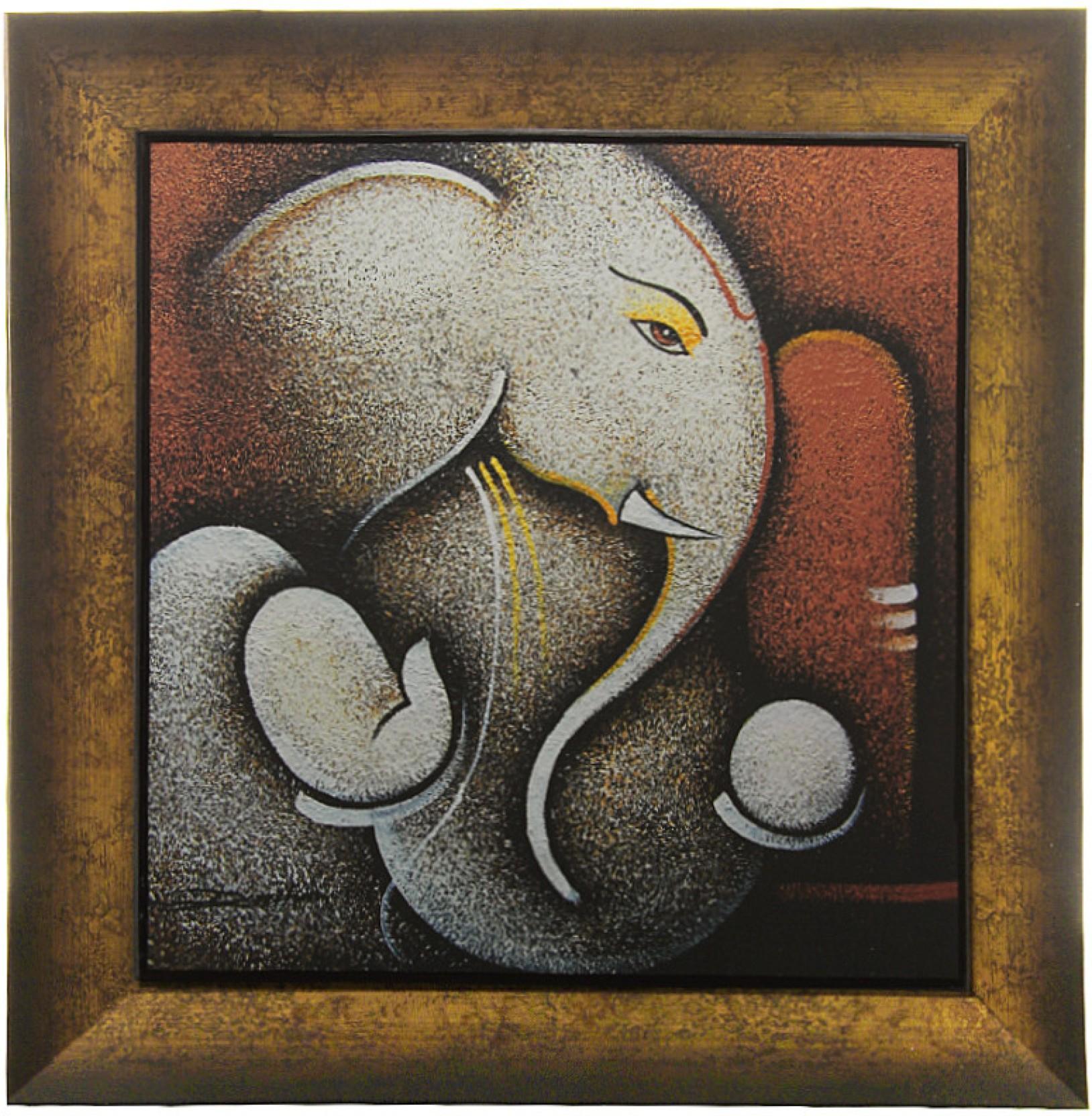 Om Arts Art Paintings Ganesha Reprint Oil Painting Price ...