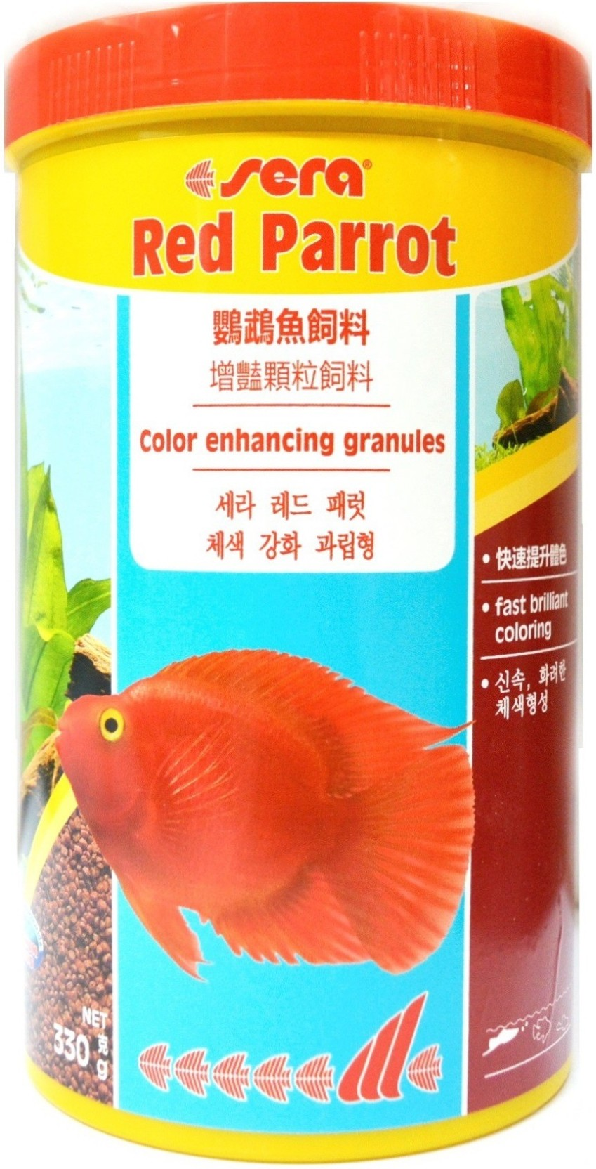 Sera Red Parrot 330g/1000ml | Color Enhancing Granules | Fast ...