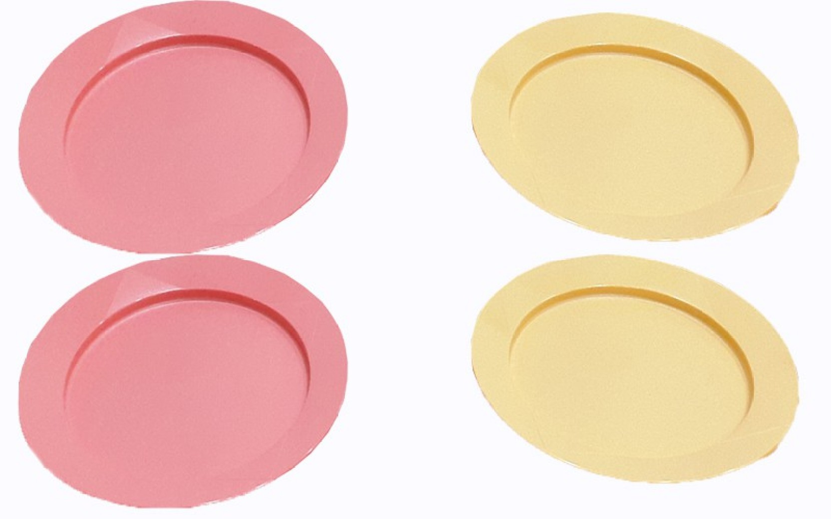 Tupperware outdoor dining plates plate set pack of 4