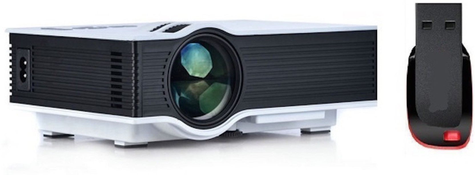 Unic Uc 40 Portable Led Projector With Pendrive 800 Lm Proyektor Uc40 Mini Corded Share