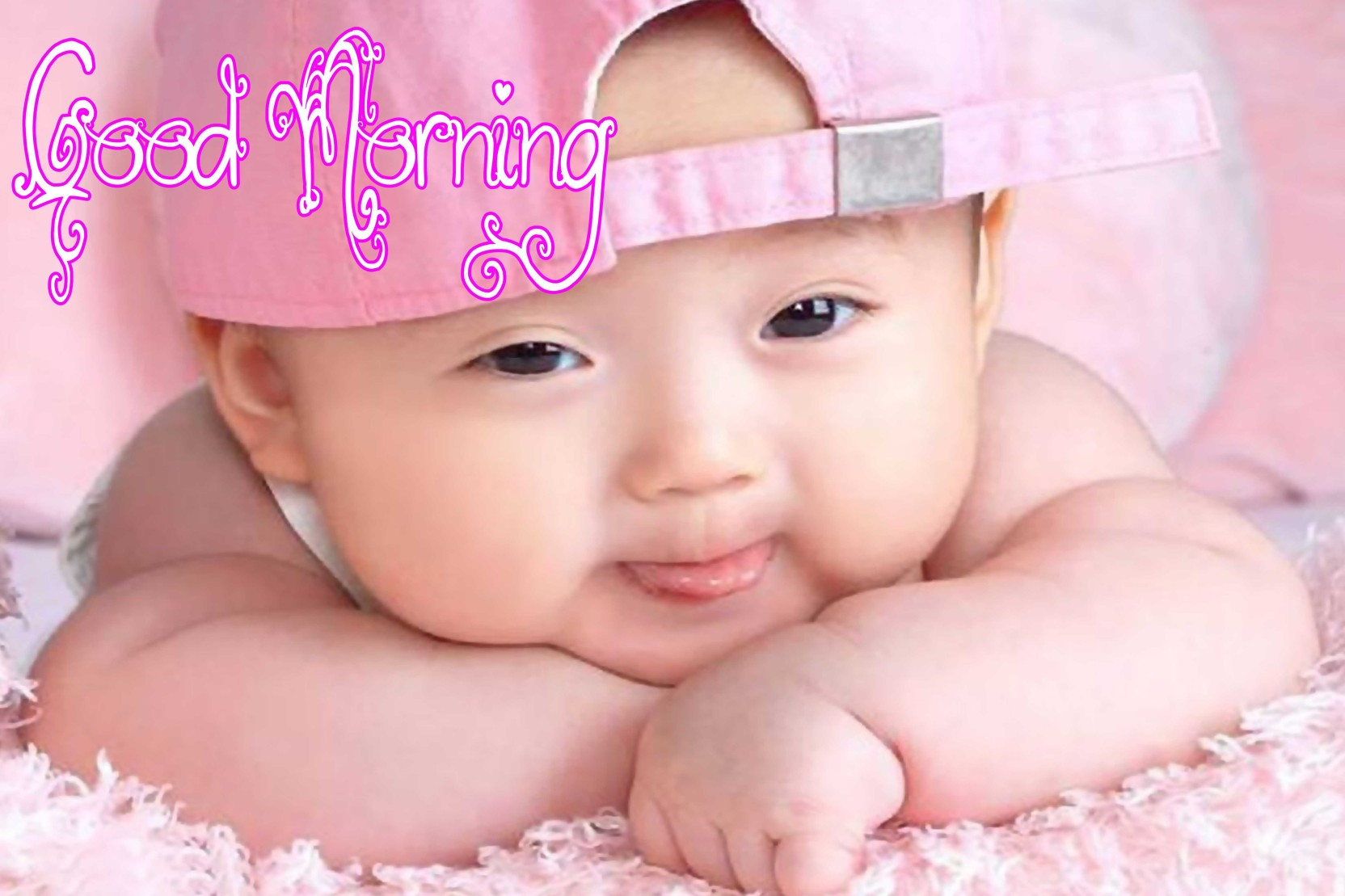 Pinki Baby Poster With Good Morning Design Upfk504721 Paper Print