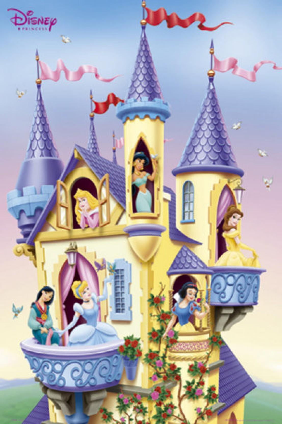 Disney Princess - Castle Paper Print - Animation & Cartoons posters ...