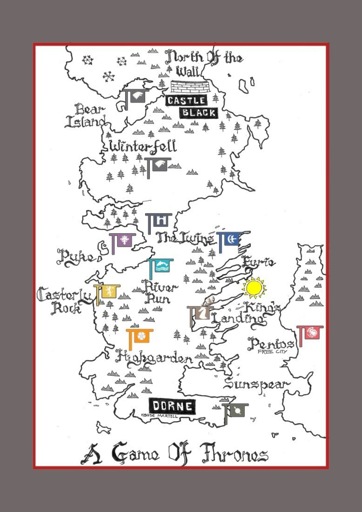 It is a photo of Game of Thrones Printable Map pertaining to high resolution
