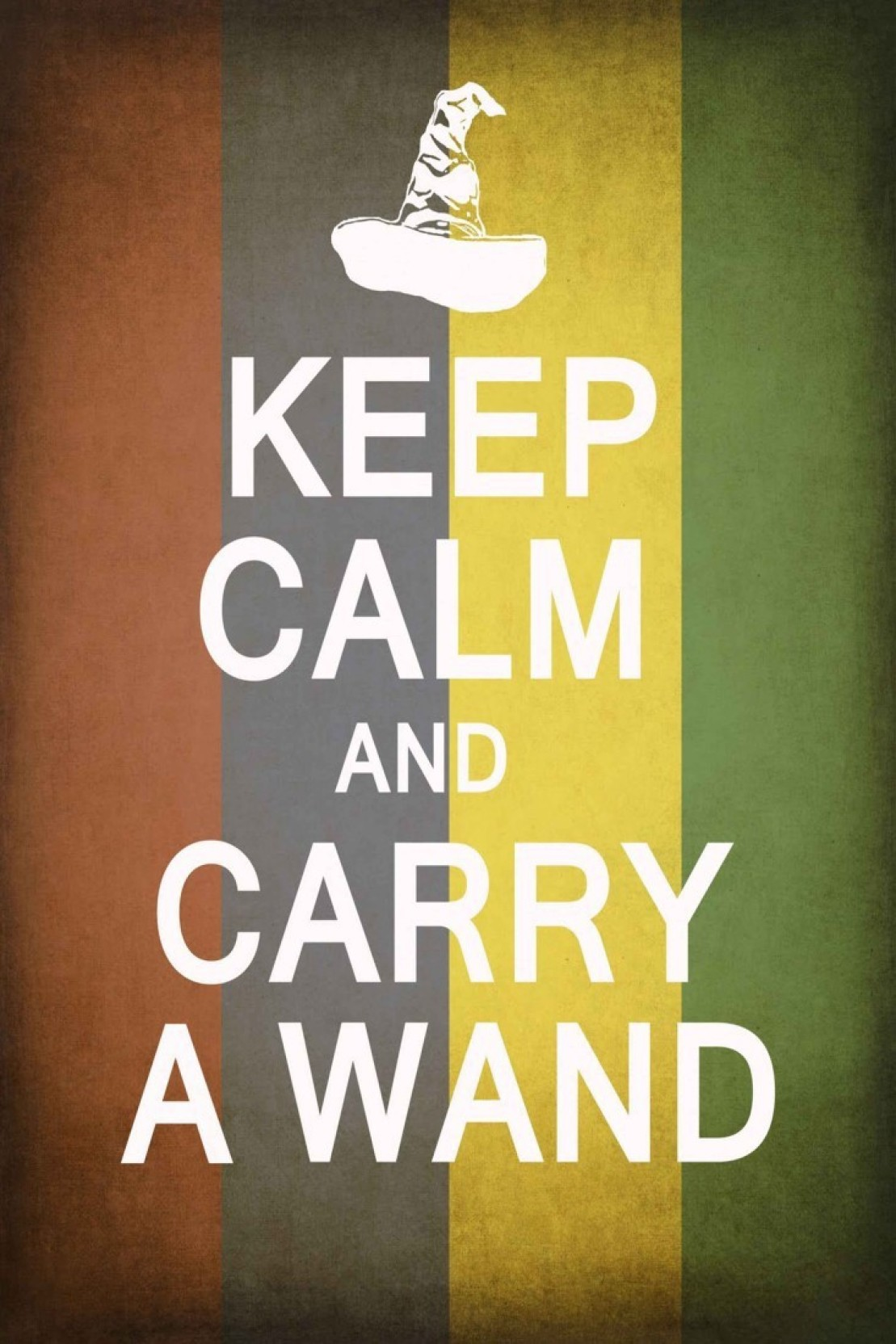 Athah Comic Poster Keep Calm And Carry A Wand Paper Print Rolled ...