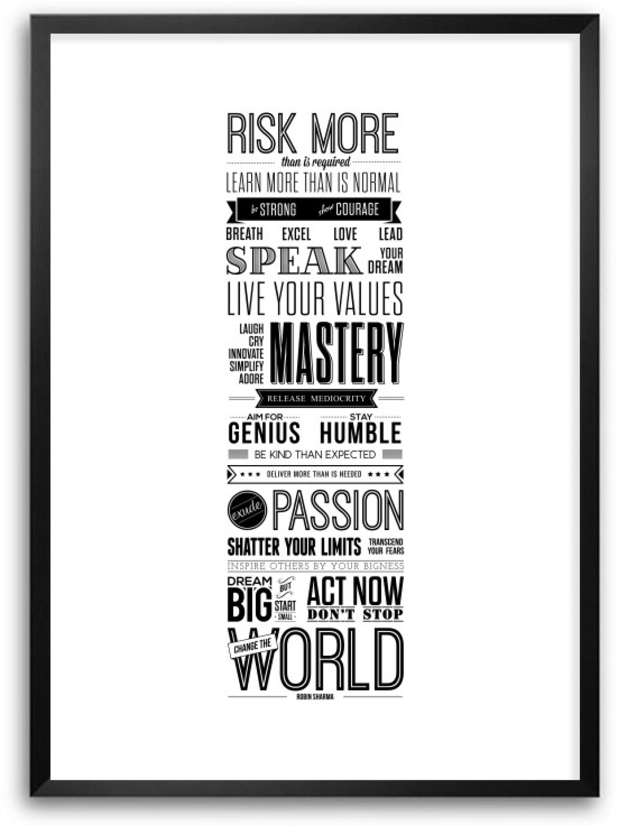 Simplify Life Quotes Robin Sharma Life Motivating Framed Typography Quotes Framed