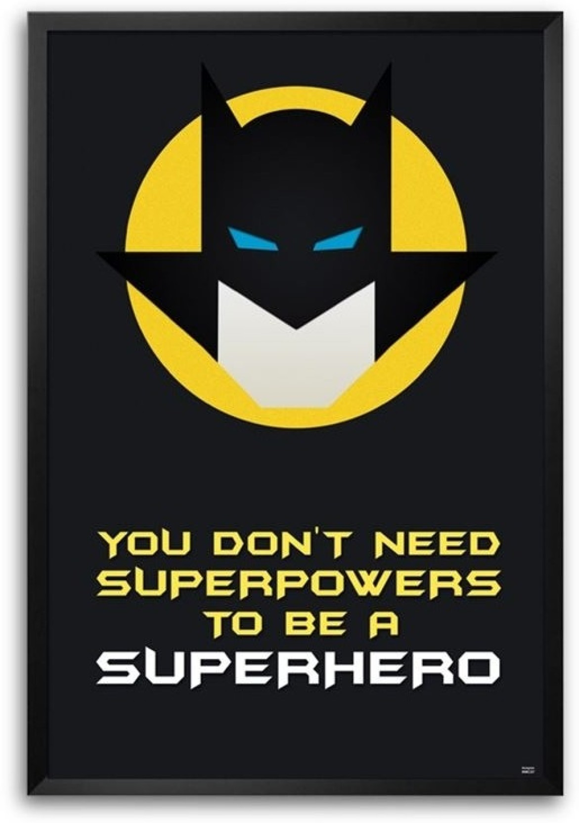 Home Design Decor App Review Batman Superhero Quote Framed Photographic Paper Quotes