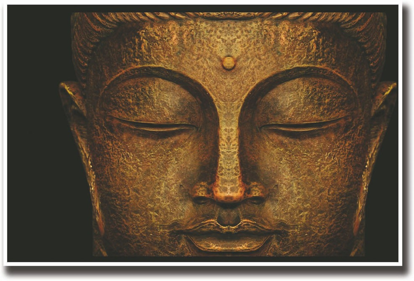 Lord Buddha Statue Face Fine Art Print Religious Posters