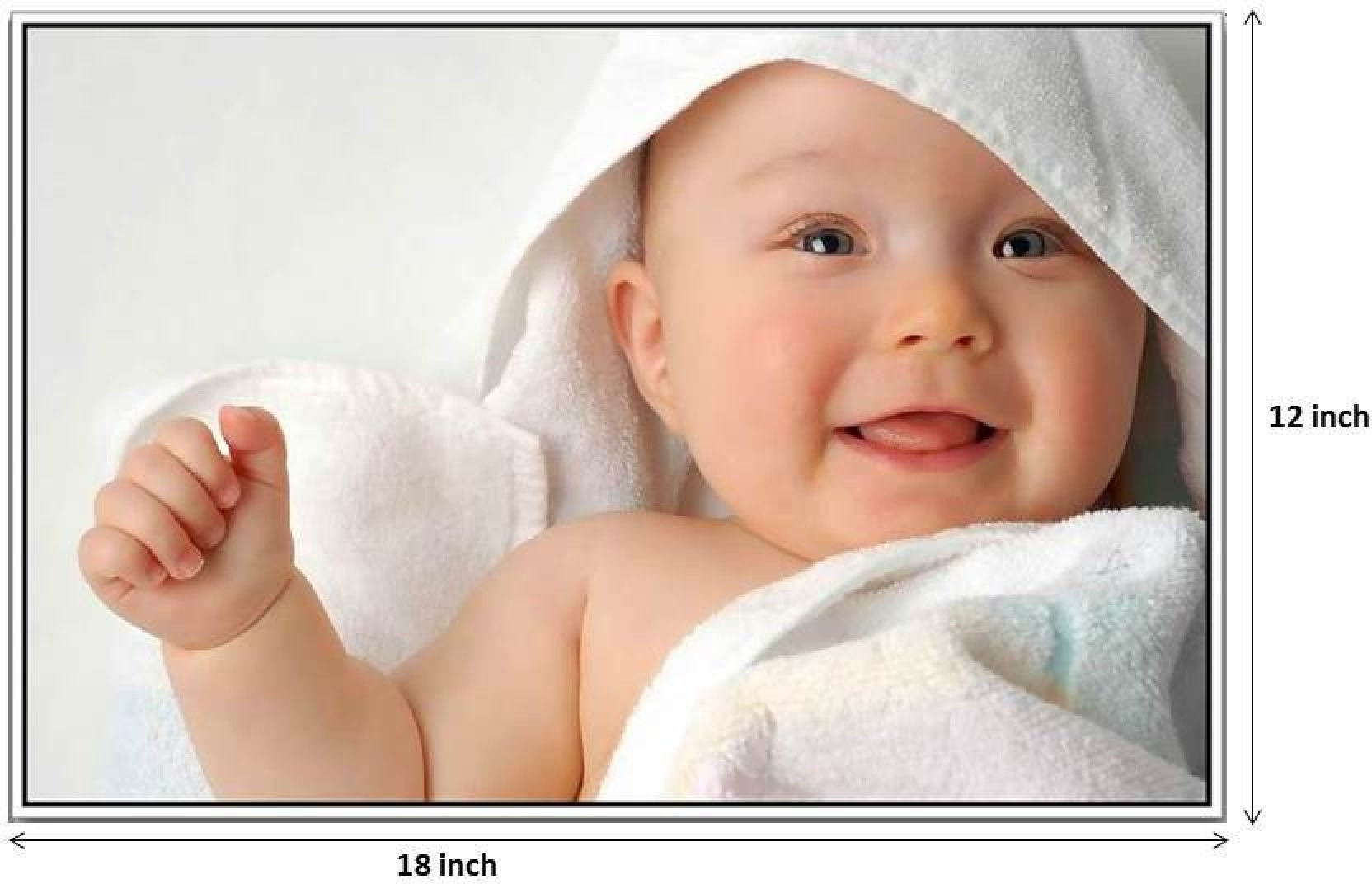 cute baby smiling photographic paper - typography posters in india